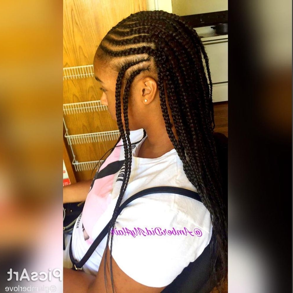 Find Your Perfect Hair Style Throughout Recent Half Cornrows Half Individual Braids (View 9 of 15)