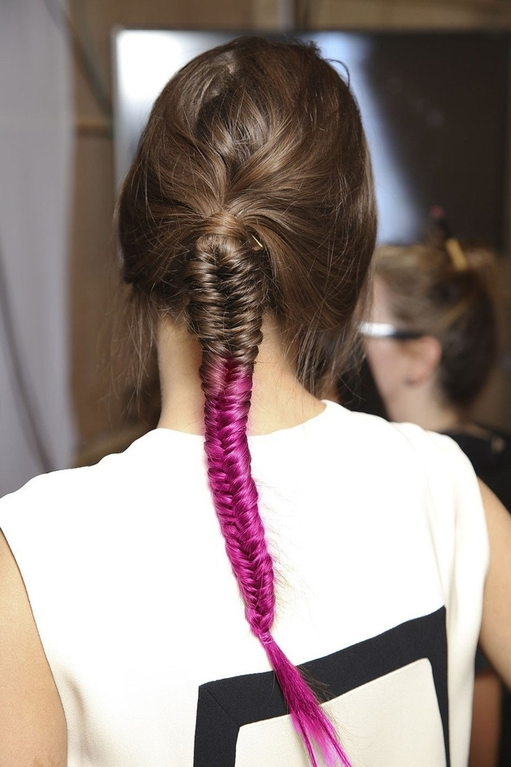 Fishtail Braids For 2014 – Pretty Designs With Favorite Two French Braids And Side Fishtail (View 4 of 15)