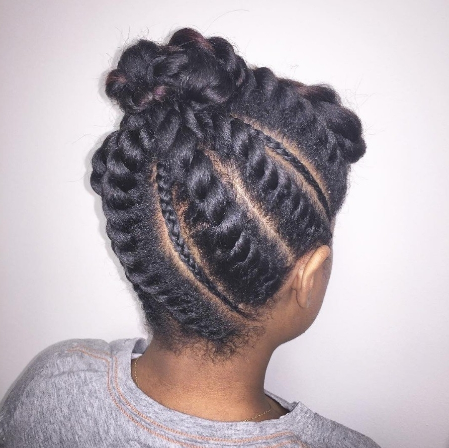 Flat Twist Hairstyles: 13 Fierce Looks From Instagram That You Have Inside Well Liked Reverse Flat Twists Hairstyles (View 8 of 15)