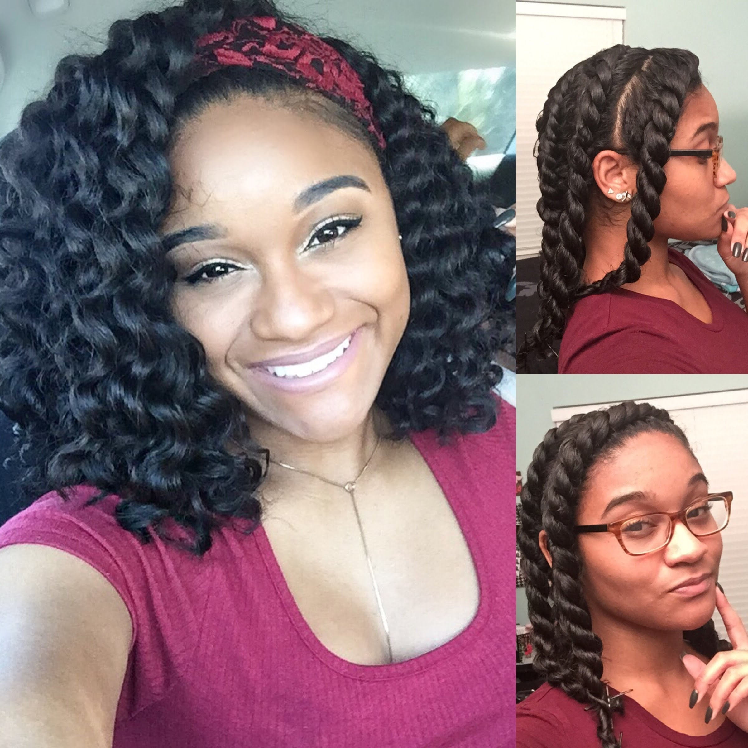Featured Photo of Flat Twists Into Twist Out Curls