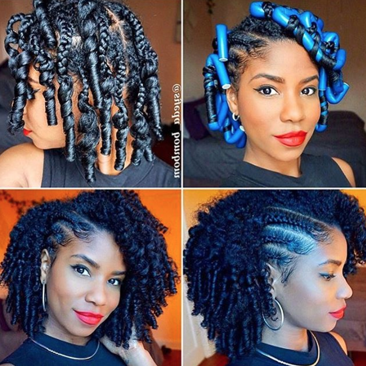 Flawless Braid And Curl @syeda Bombom – Https://blackhairinformation Regarding Well Known Cornrows And Curls Hairstyles (View 7 of 15)