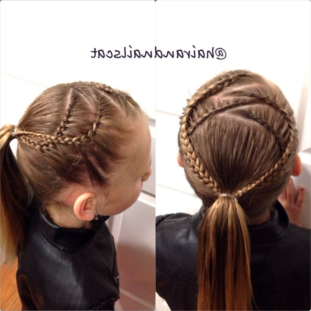 Four Lace Braids Into A Ponytail (Gallery 2 of 15)