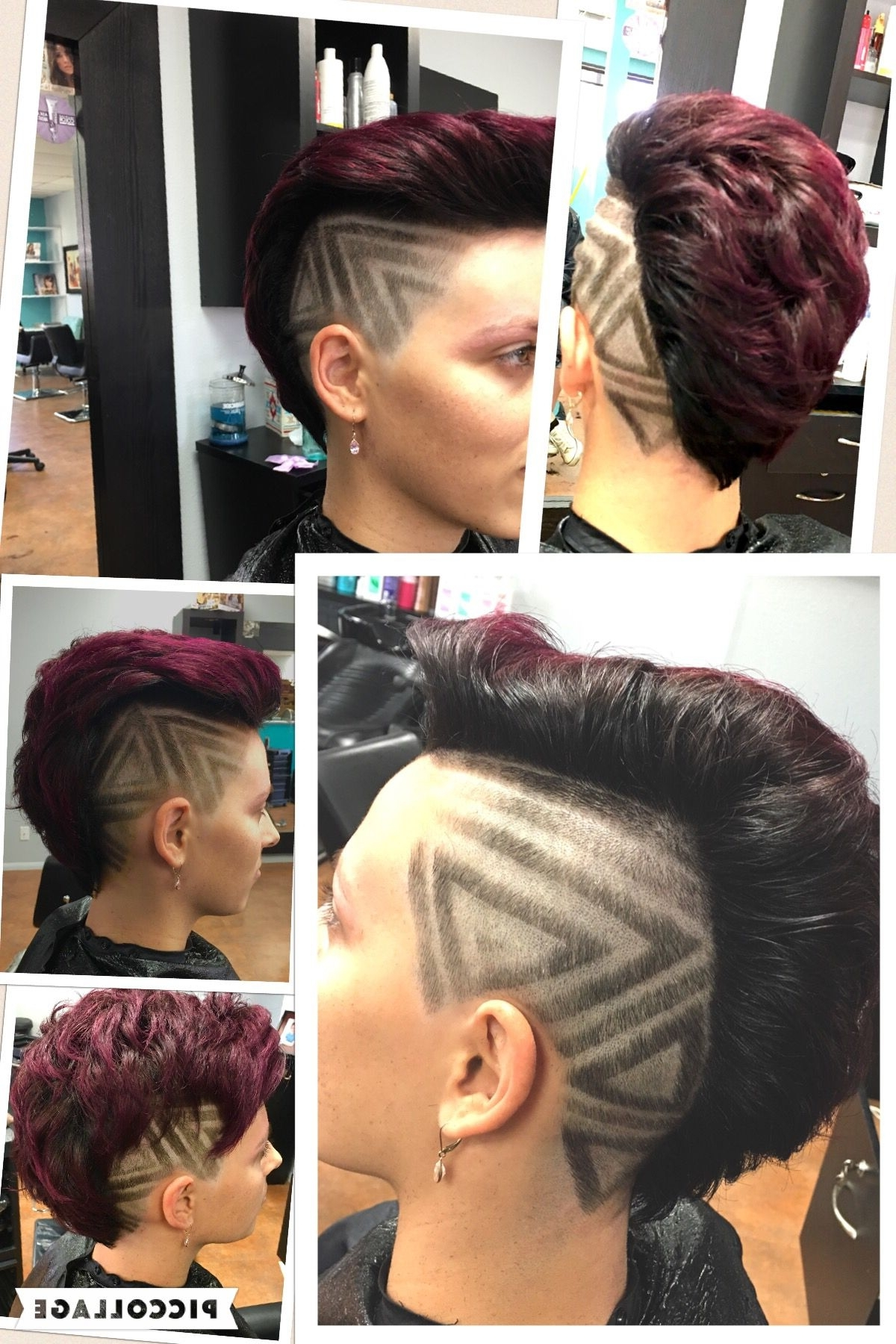 Freestyle Hair Design, Mohawk, With Black And Magenta (View 8 of 15)