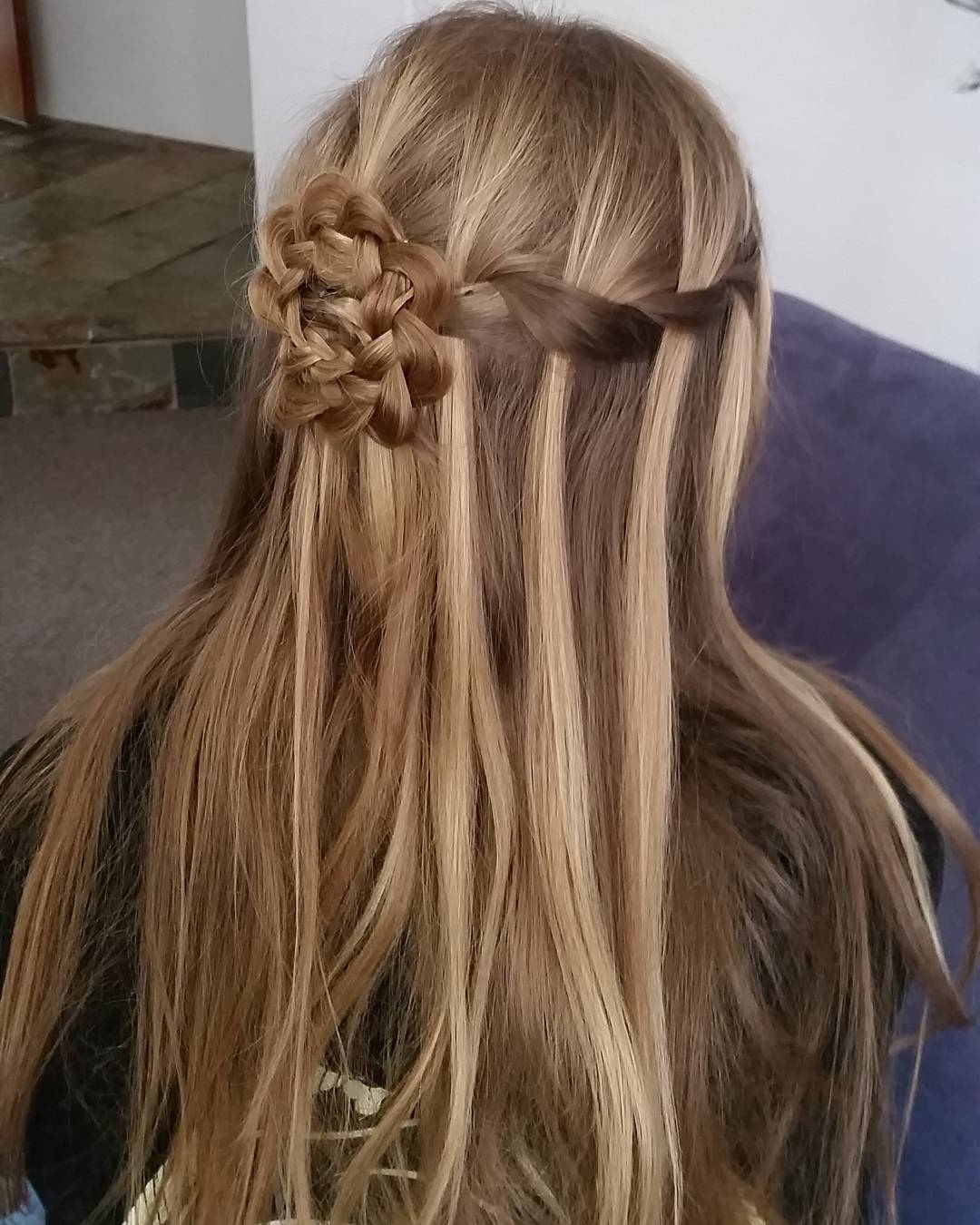 French Braid Into Bun Intended For Recent French Braids In Flower Buns (View 10 of 15)