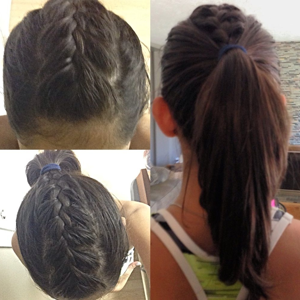 French Braid With Current Mohawk French Braid Ponytail Hairstyles (View 7 of 15)