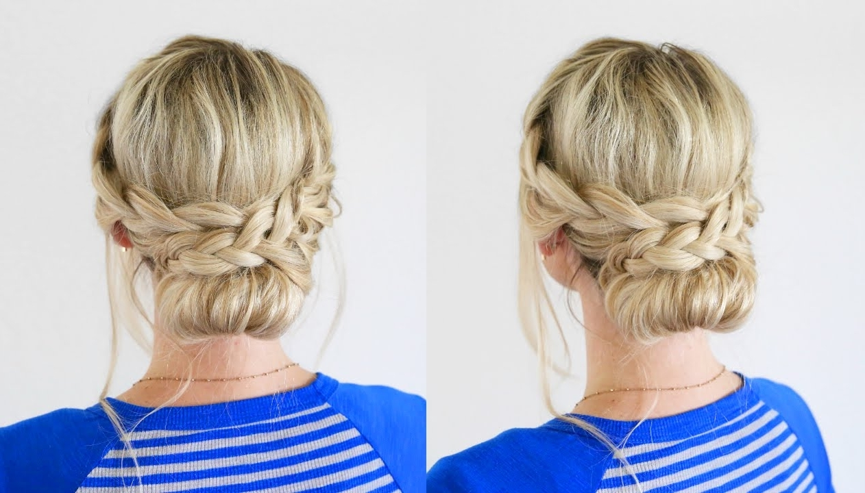 French Lace Braid Updo (View 12 of 15)