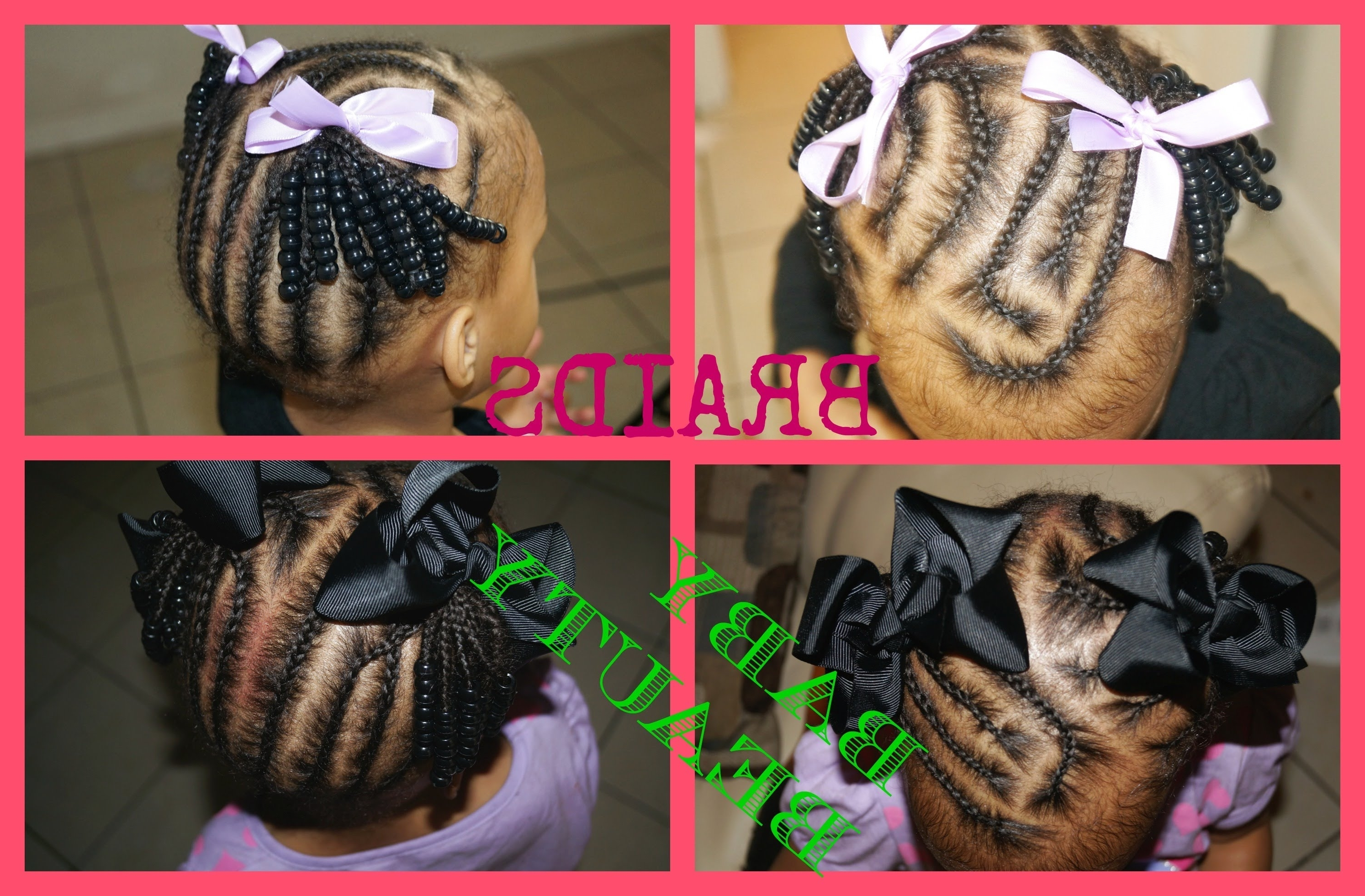 Get Ready With Mya (braided Into 2 Ponytails) – Youtube Pertaining To Widely Used Two Quick Braids And Ponytail (View 8 of 15)