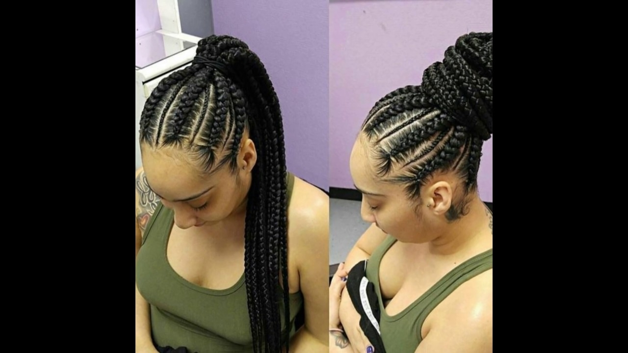 Ghana Braids Hairstyles: Latest Ghana Weaving Styles – Youtube For Current Ghana Braids Hairstyles (View 9 of 14)
