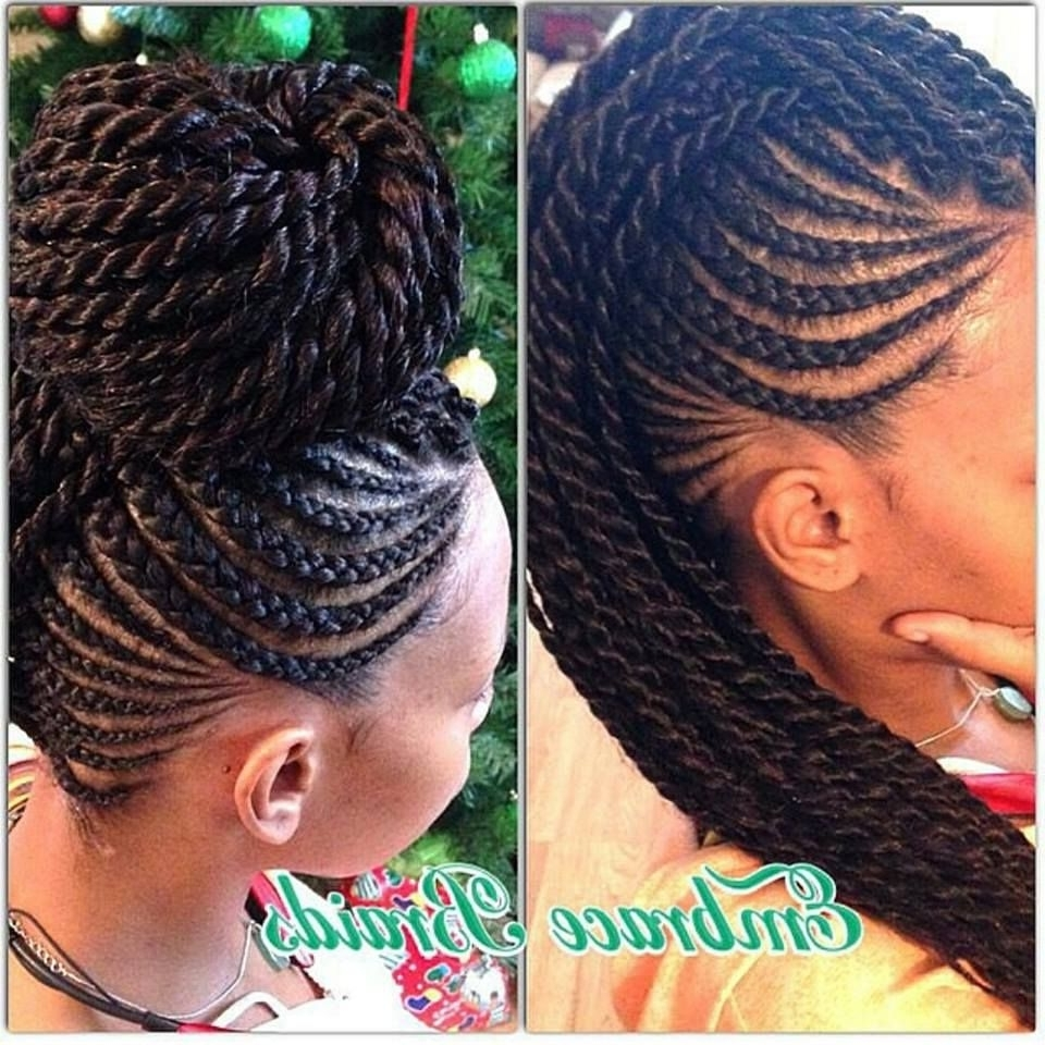 Gorgeous! @embracebraids – Http://www.blackhairinformation With Most Recently Released Cornrow Updo Braid Hairstyles (Gallery 9 of 15)