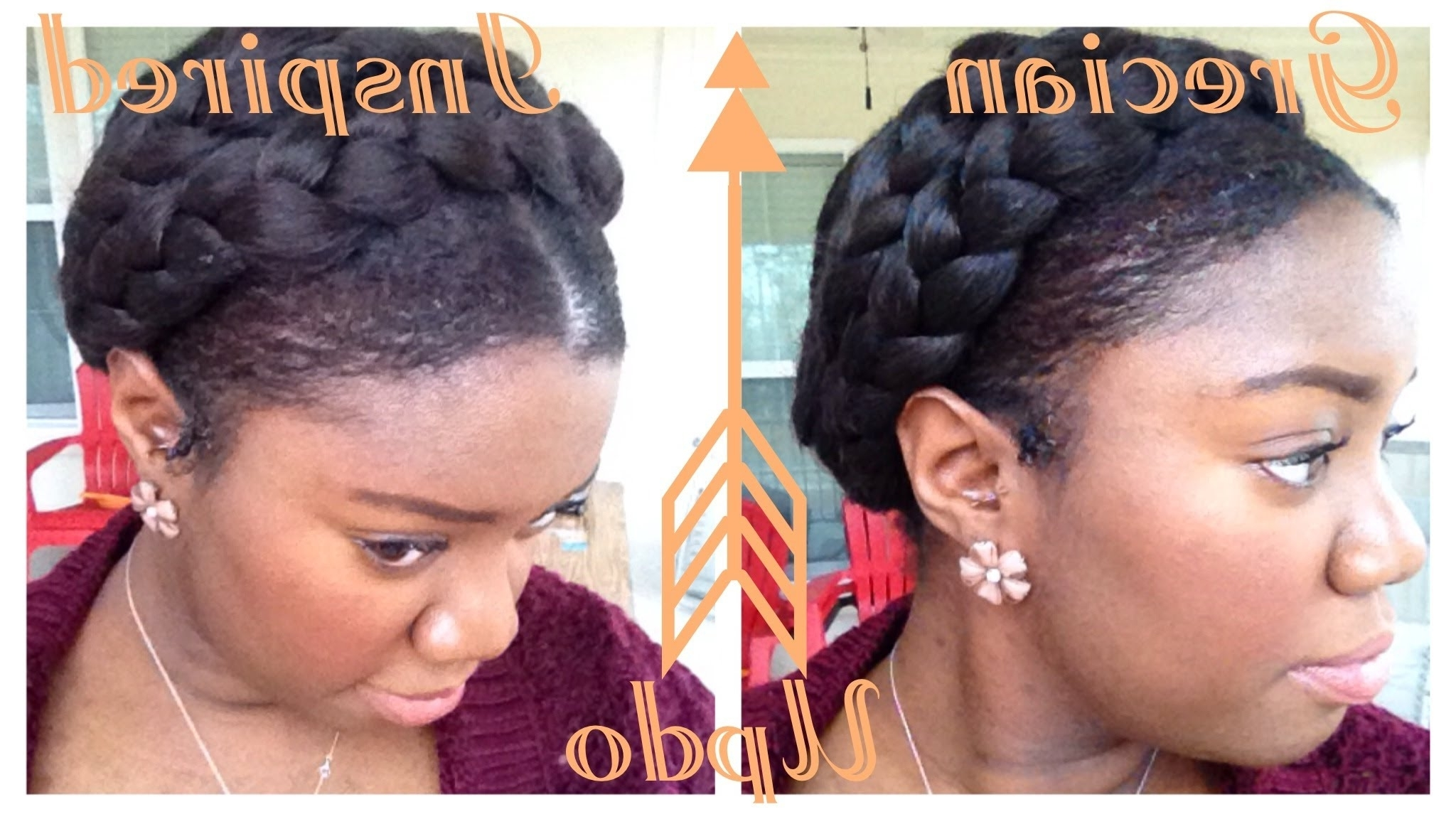 Greek Goddess Crown Braid Tutorial (protective Style) – Youtube Regarding Most Current Black Crown Braid Hairstyles (Gallery 8 of 15)