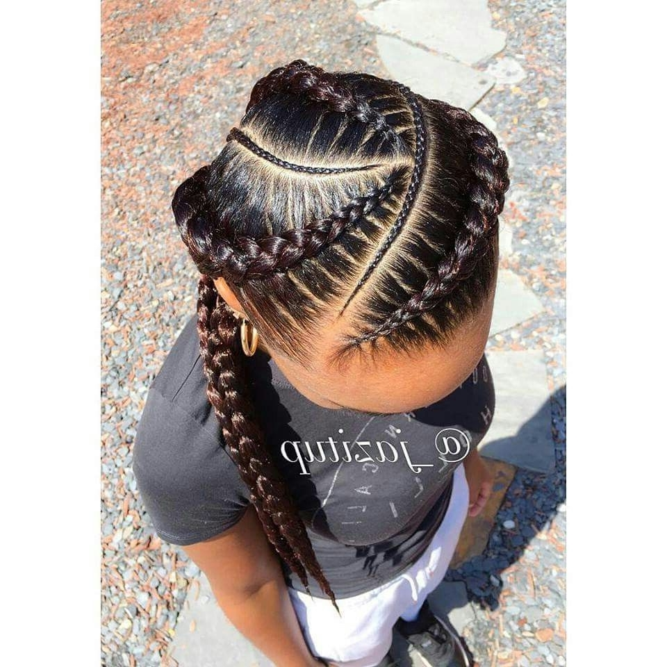 Photo Gallery Of Feed In Braids Hairstyles Viewing 3 Of 15 Photos