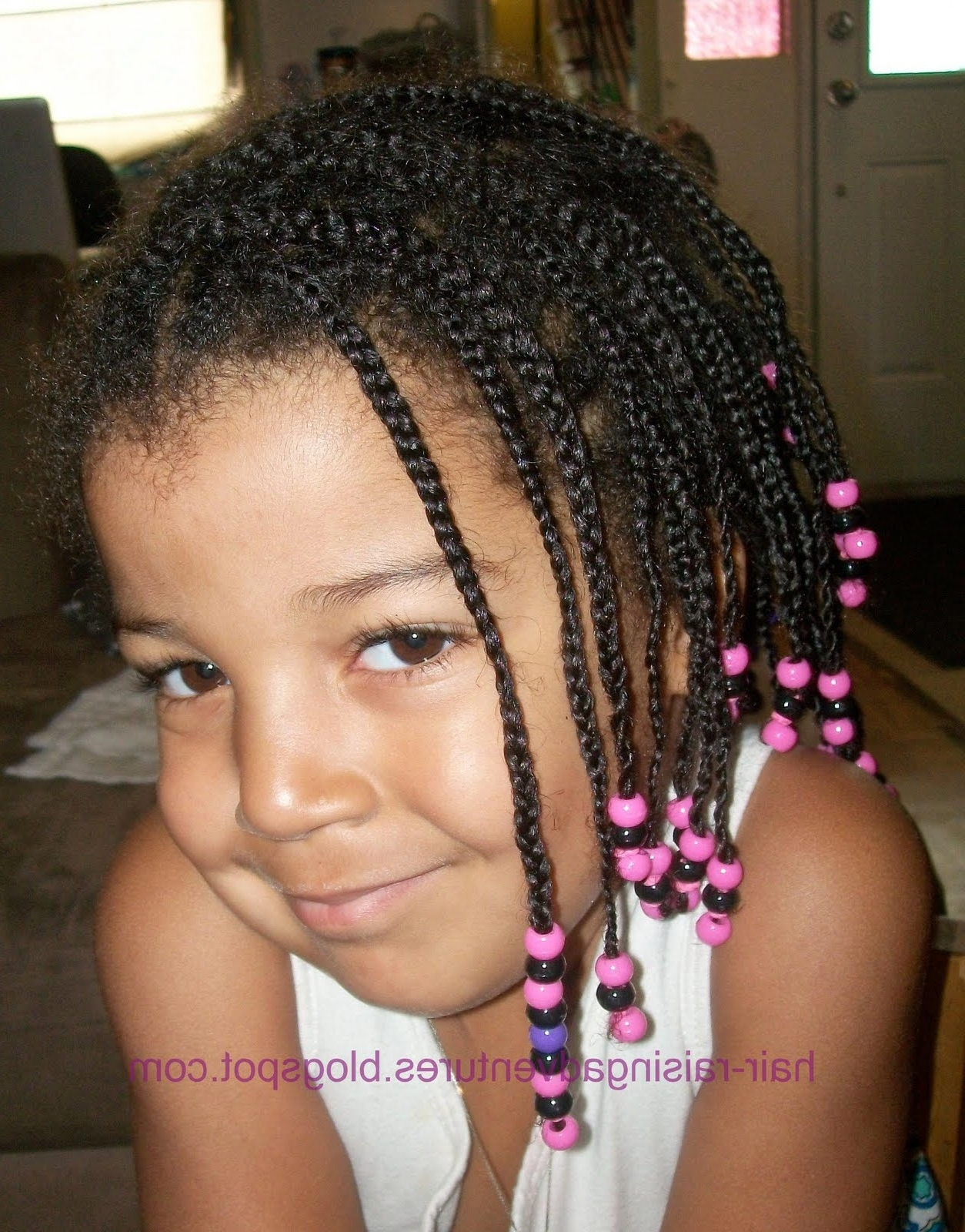 Hair Raising Adventures: Small Braids And Many Beads With Regard To Most Popular Mini Cornrows Hairstyles (View 6 of 15)