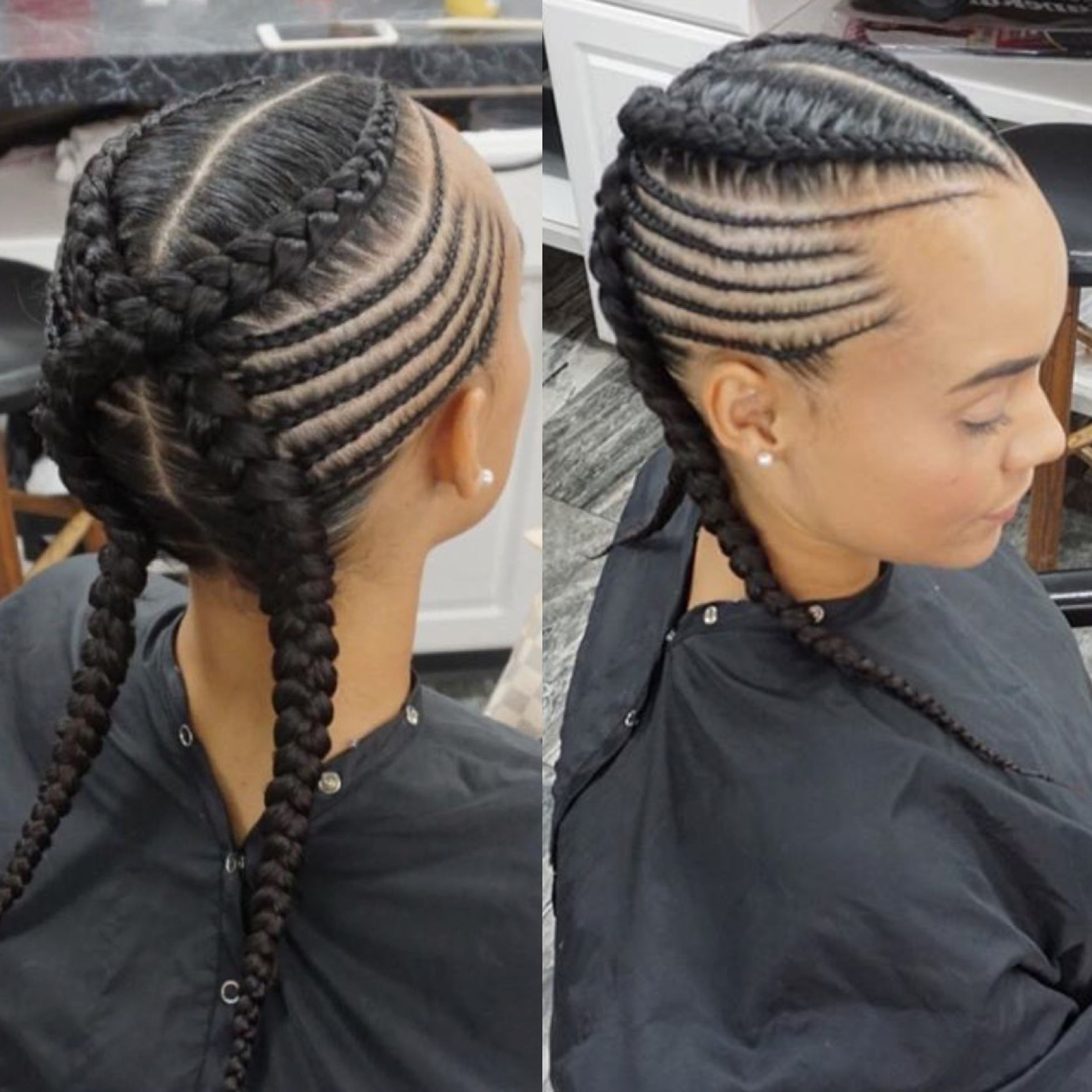 Hair Style Pertaining To Popular Criss Crossed Braids With Feed In Cornrows (View 9 of 15)