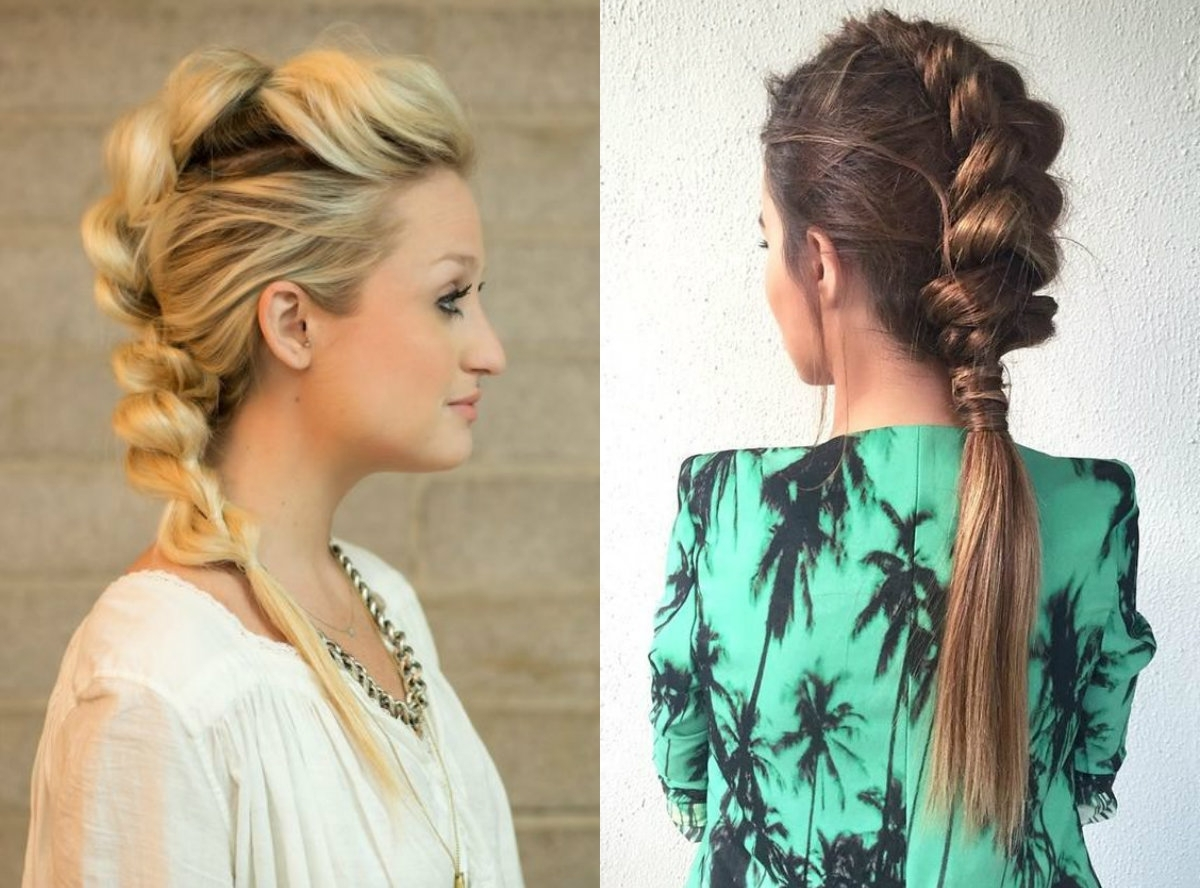Hairdrome Intended For 2018 Mohawk French Braid Hairstyles (View 9 of 15)