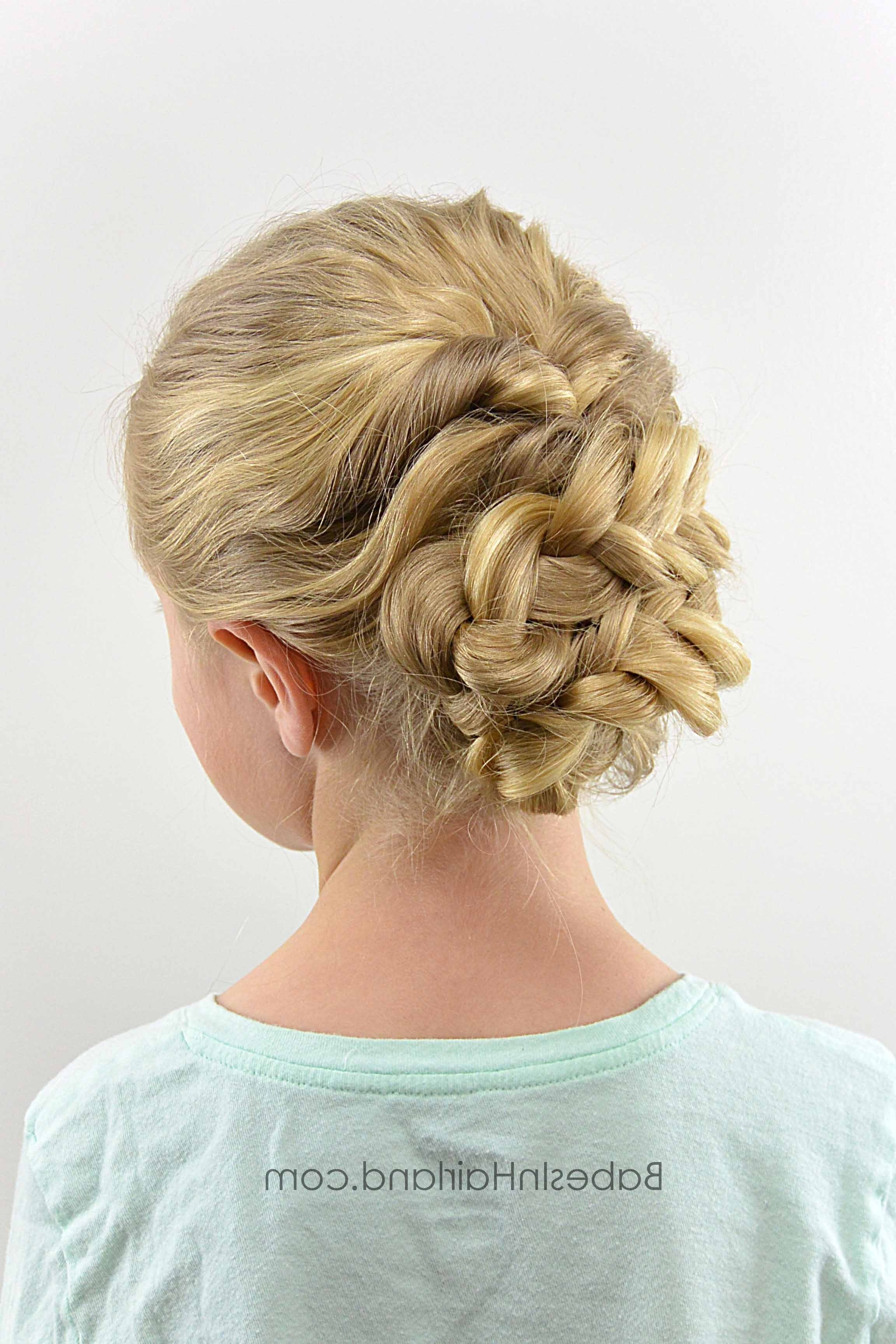 Hairstyle Gallery – Babes In Hairland Intended For Well Liked Spirals Rolled Braided Updo (View 5 of 15)