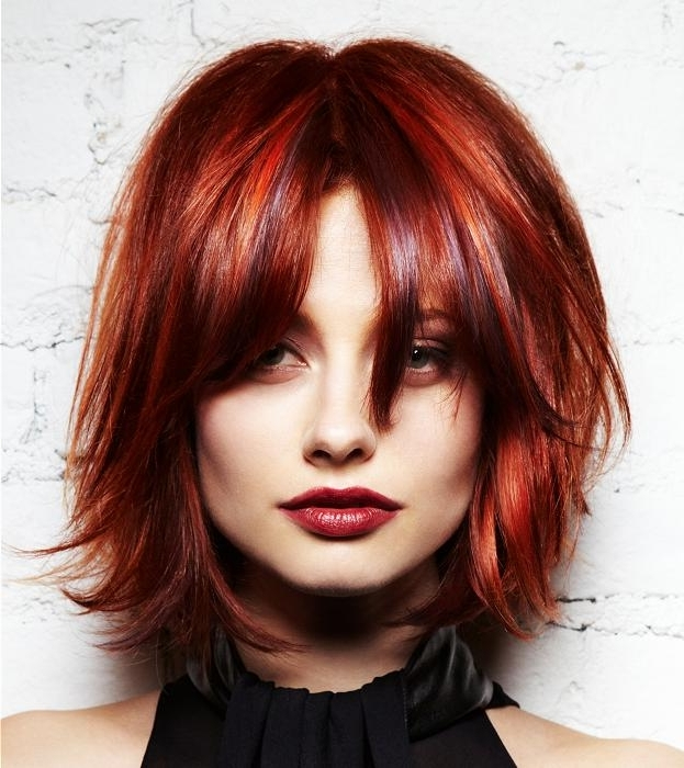 Hairstyles For Square Faces Regarding Newest Shaggy Pixie Haircuts In Red Hues (View 8 of 15)