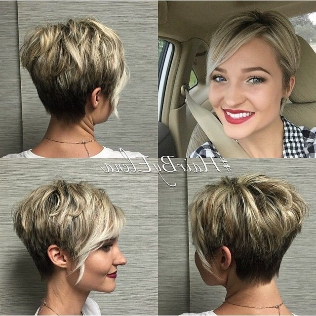 Hairstyles Intended For Preferred Disconnected Blonde Balayage Pixie Haircuts (View 6 of 15)