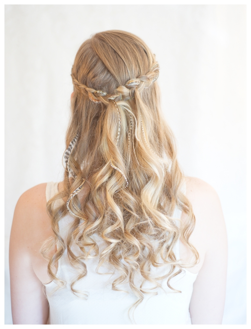 Hairstyles Tips And Tutorial: Make Inside Out Half Up Braid Intended For Most Up To Date Half Up And Braided Hairstyles (View 9 of 15)