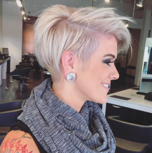 Herinterest/ For 2018 Rose Gold Pixie Haircuts (View 8 of 15)
