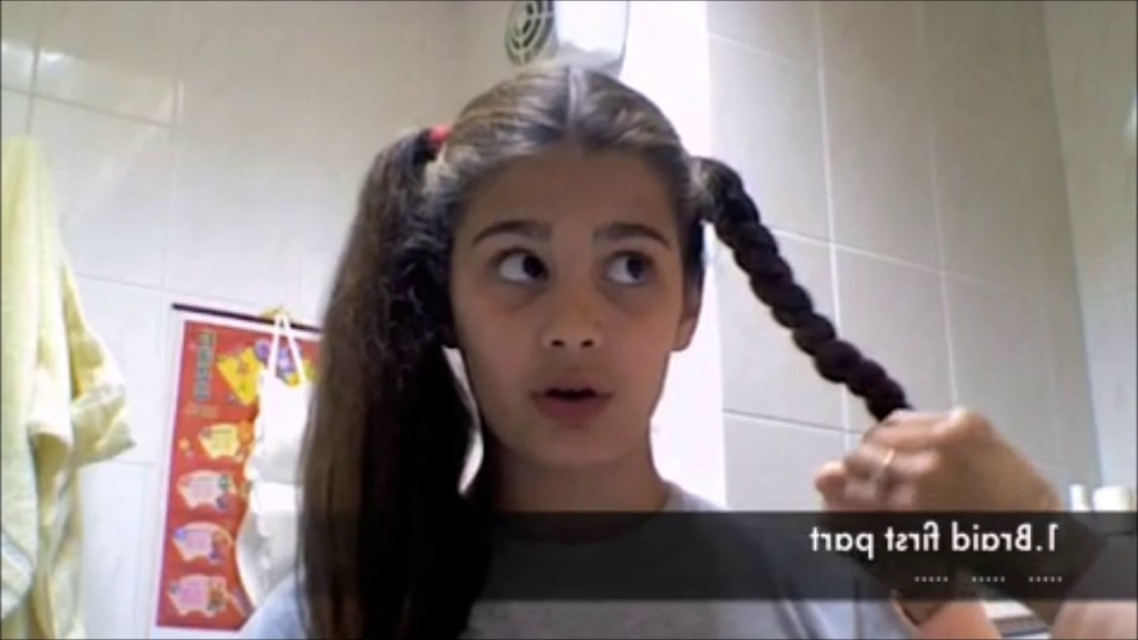 High Braided Pigtails – Youtube For Most Popular Braided Pigtails (View 7 of 15)