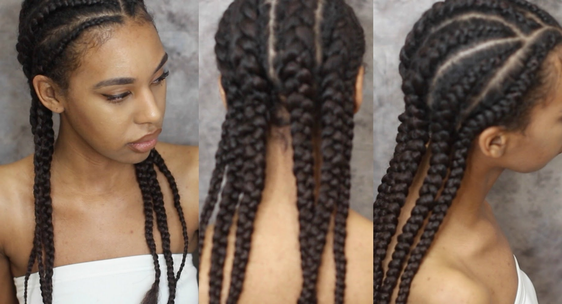 How To Braid Hair With Extensions, Invisible Cornrows – Youtube Throughout Widely Used Cornrows Hairstyles Without Extensions (View 5 of 15)