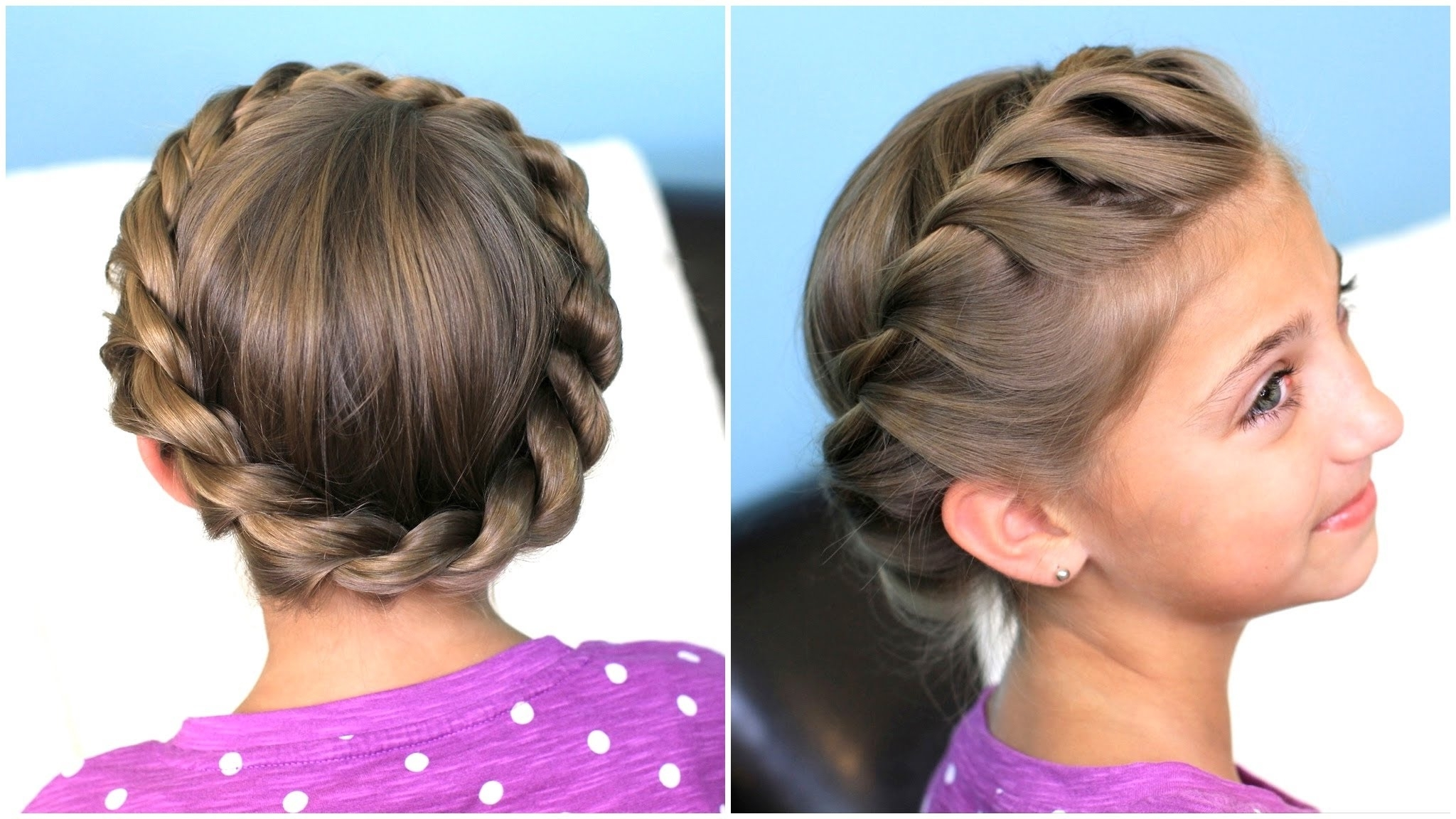 Featured Photo of Spirals Rolled Braided Updo
