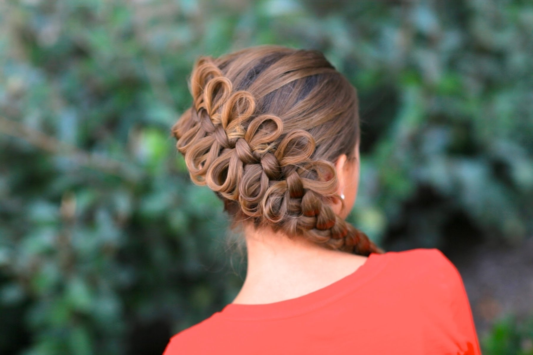 How To Create A Diagonal Bow Braid – Youtube For Newest Zipper Braids With Small Bun (View 4 of 15)