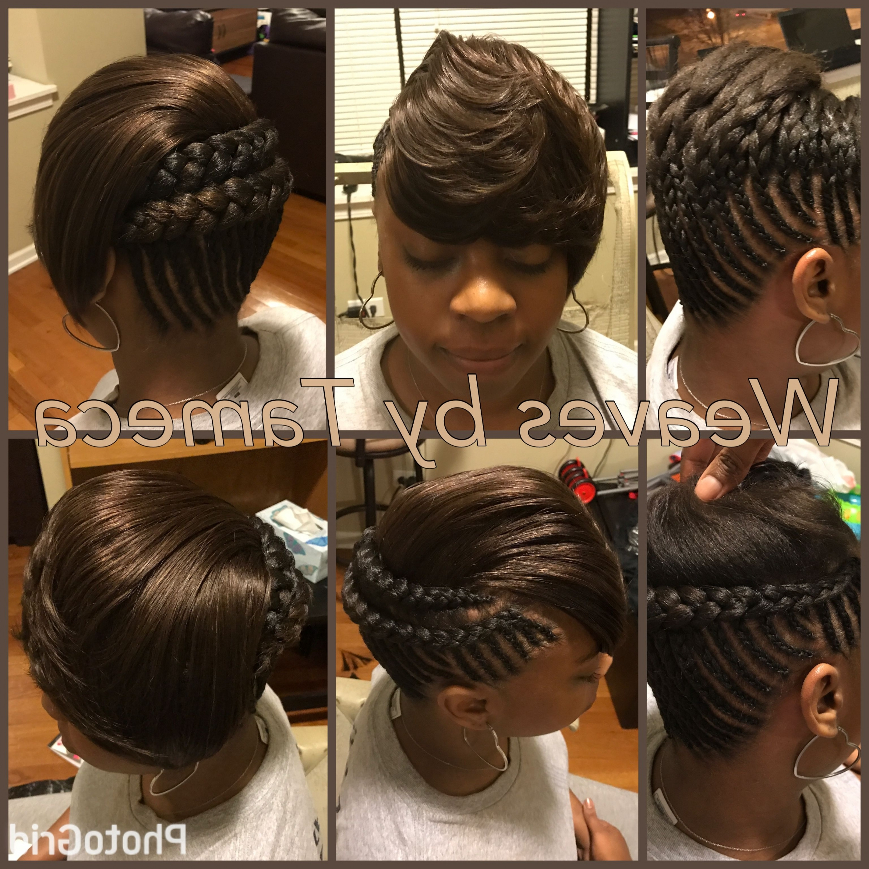 How To Do A Bun And Bang With Weave 2018 – Orlandowhite Within Well Known Braid And Side Bang Hairstyles (View 7 of 15)