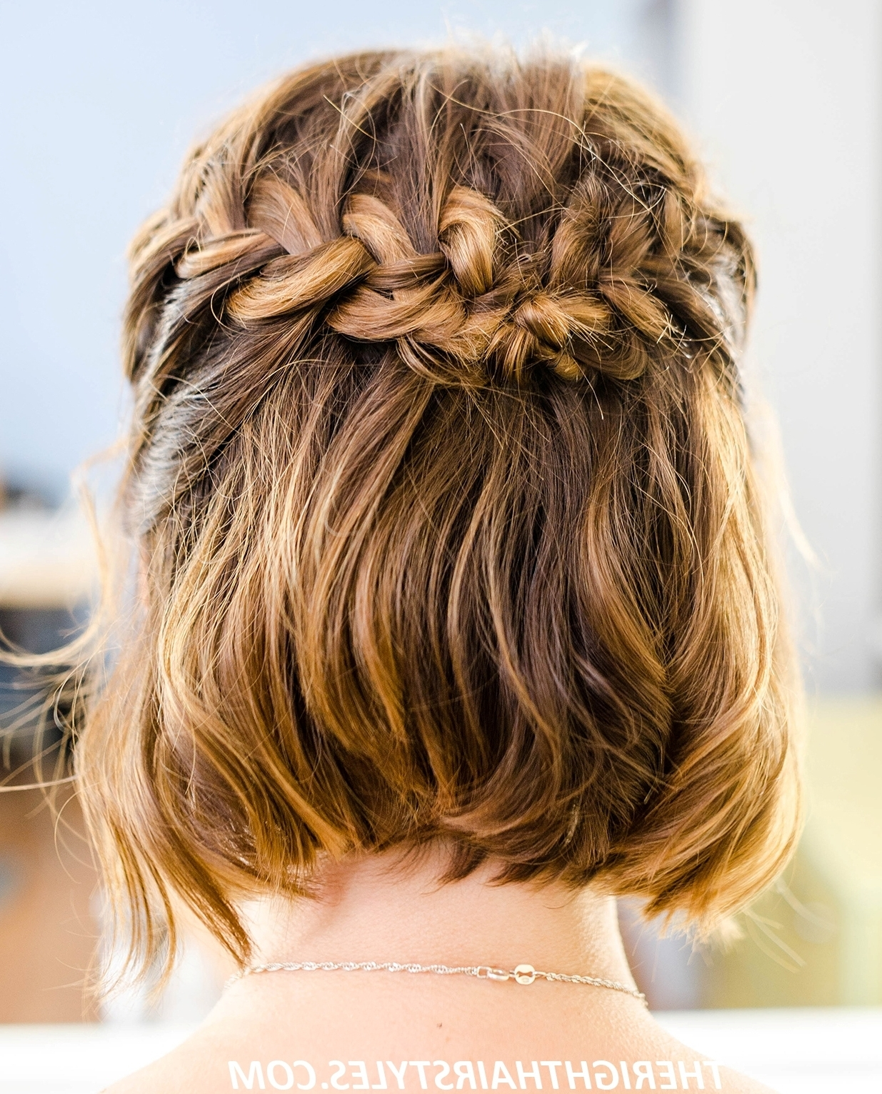 How To Do A Half Up French Braid Crown In 6 Easy Steps In Most Up To Date French Braid Crown And Bun Updo (View 12 of 15)