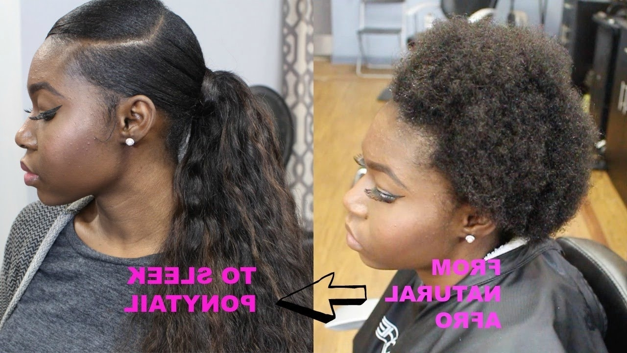 How To Do A Quick Ponytail On Short Natural Hair – Youtube Intended For Current Revamped Braided Ponytail (View 8 of 15)