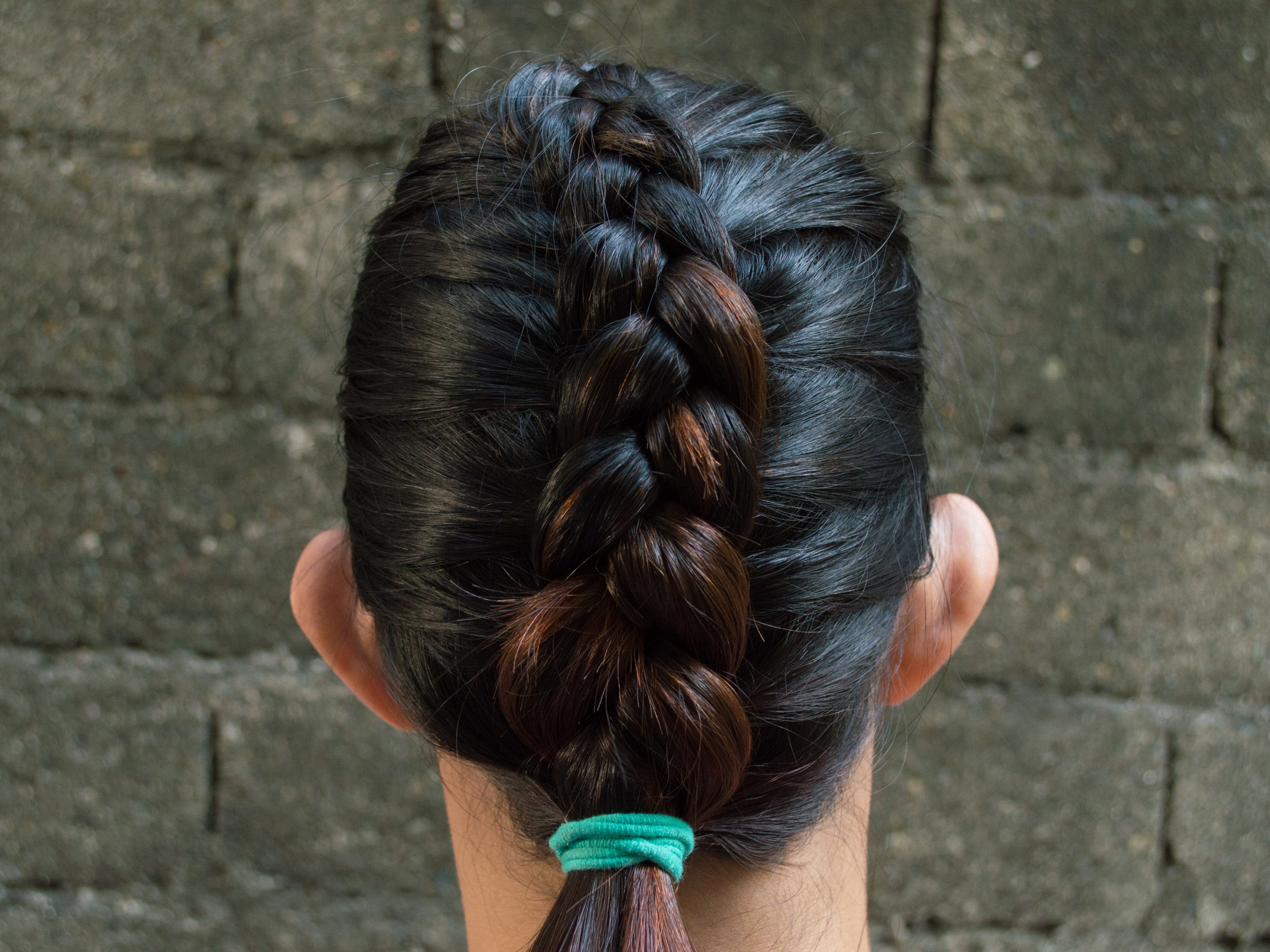 How To Do A Reverse French Braid: 6 Steps (With Pictures) With Most Popular Reverse Braid And Side Ponytail (View 5 of 15)