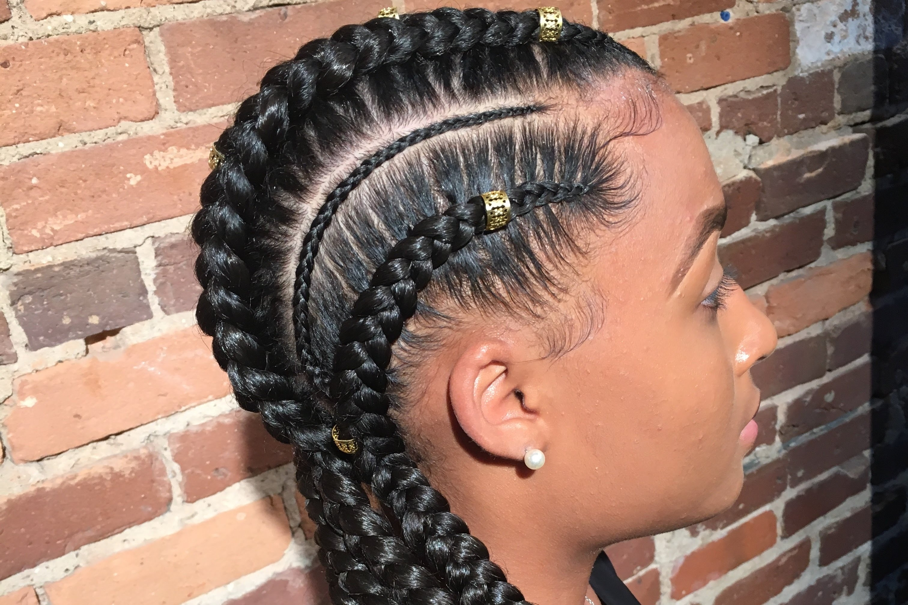 How To Do Feed In Braids – Youtube Within Most Current Feed In Braids Hairstyles (View 9 of 15)