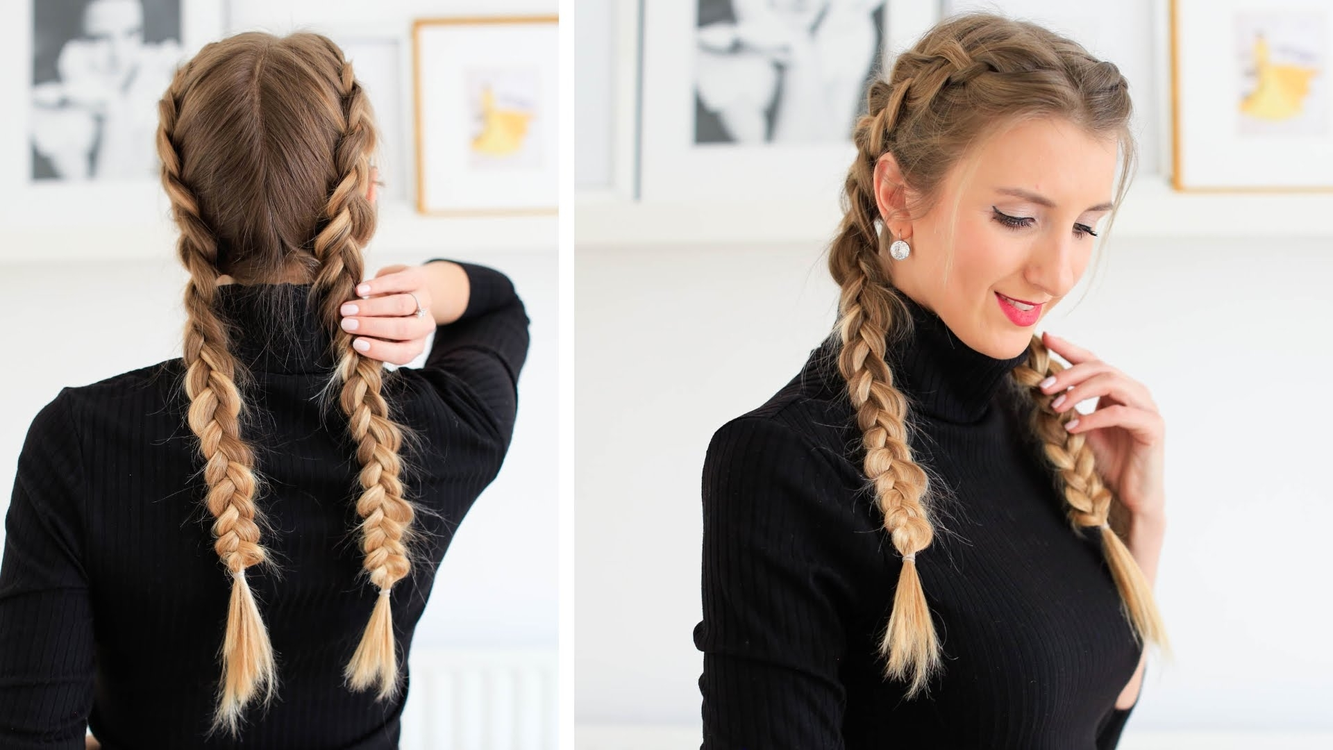 How To: Double Dutch Braid Hair Tutorial (View 11 of 15)