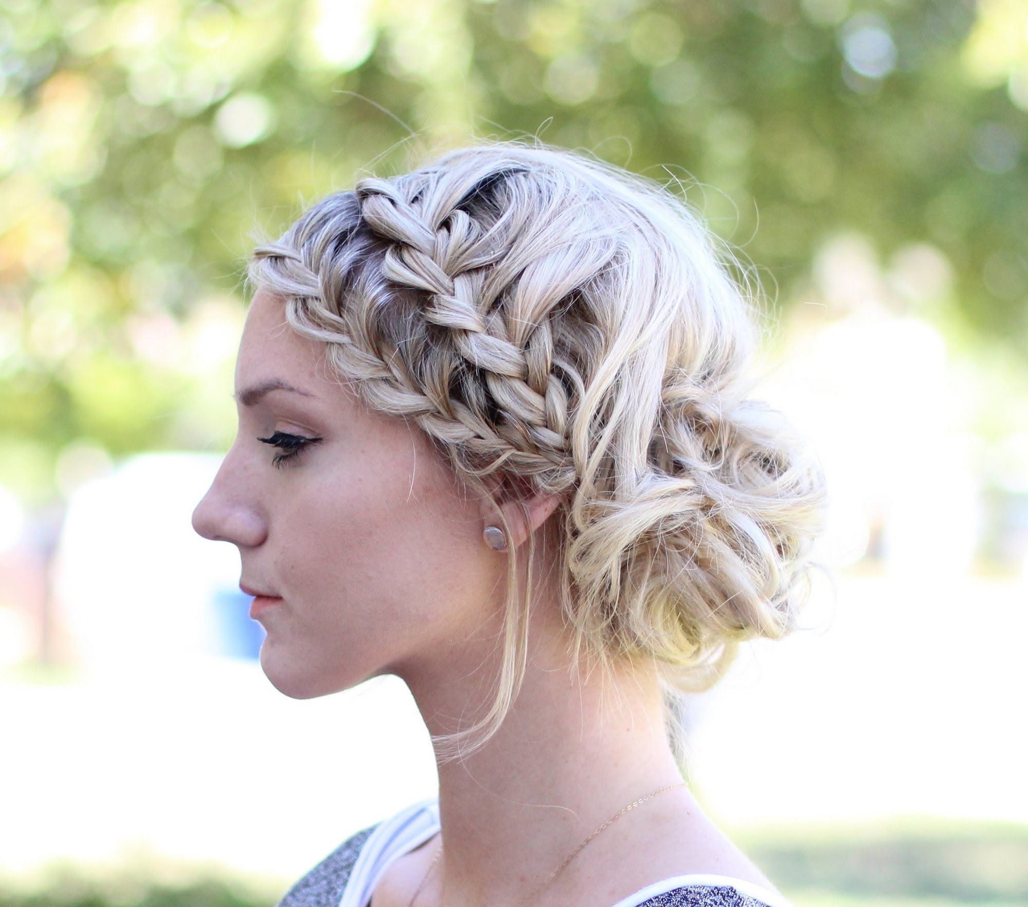 How To: Double French Lace Braids Into A Messy Bun – Youtube Within Well Liked Messy Bun With French Braids (View 9 of 15)