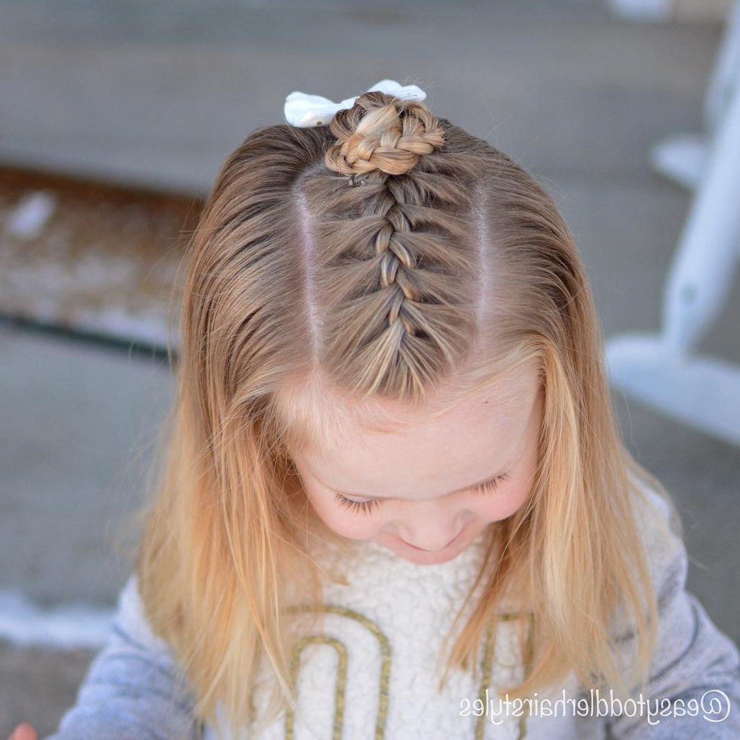 How To French Braid Toddler Hair – Video And Instructions Throughout Favorite French Braid Hairstyles With Bubbles (View 4 of 15)
