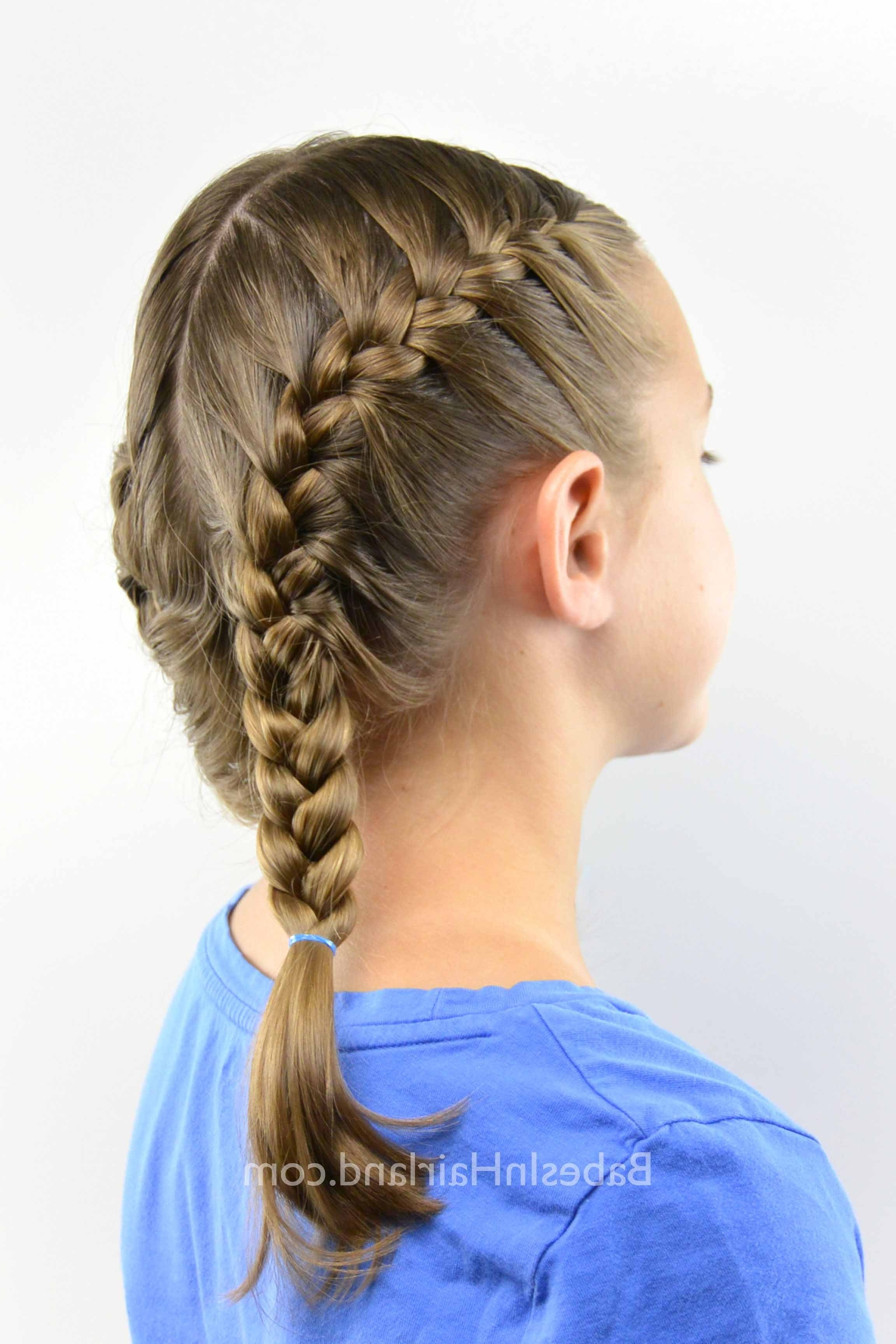 How To Get A Tight French Braid – Babes In Hairland For Recent French Braid Hairstyles With Bubbles (View 6 of 15)