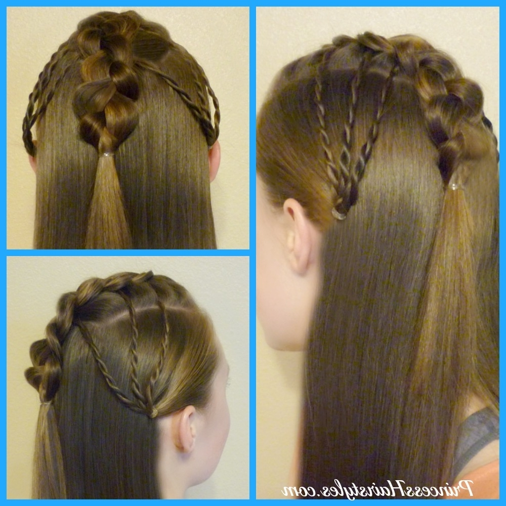 How To Make A Faux Hawk Fan, Half Up Hairstyle – Hairstyles For With Well Liked Long Braided Faux Hawk (View 10 of 15)