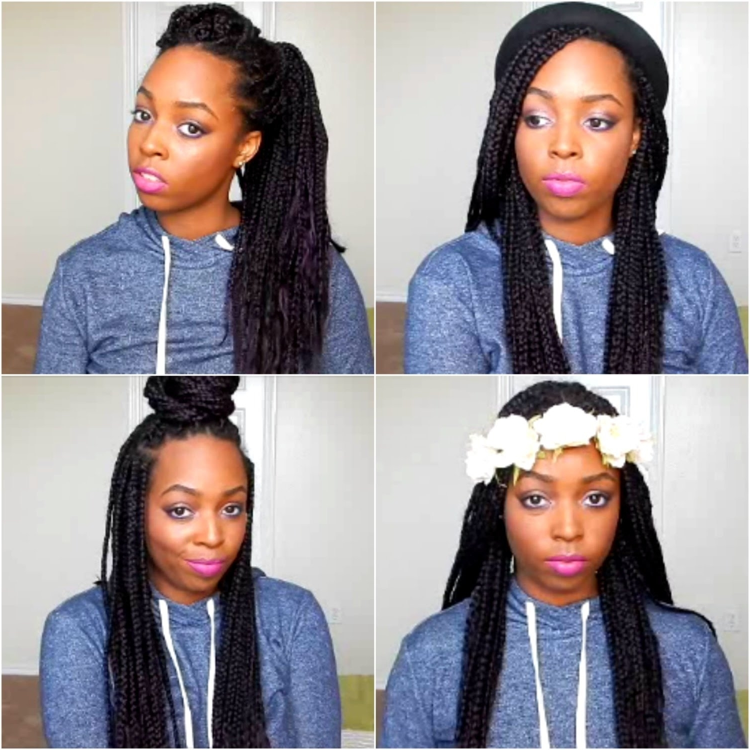 How To Style Box Braids And Twists/locs (24 Styles) – Youtube Throughout Recent Twist From Box Braids Hairstyles (View 8 of 15)