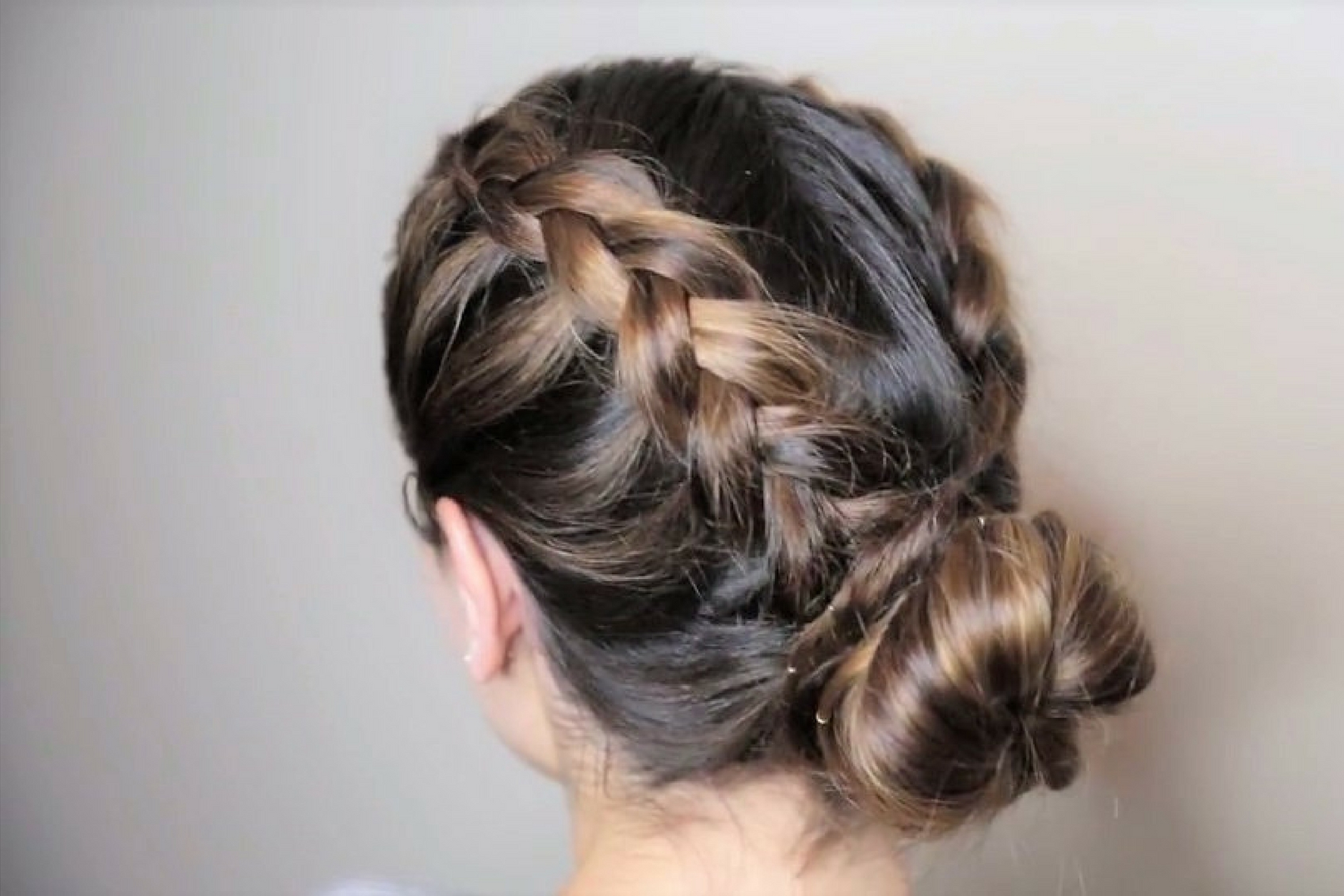 How To Style French Braids In A Messy Bun – Metiza In Preferred Messy Bun With French Braids (View 8 of 15)