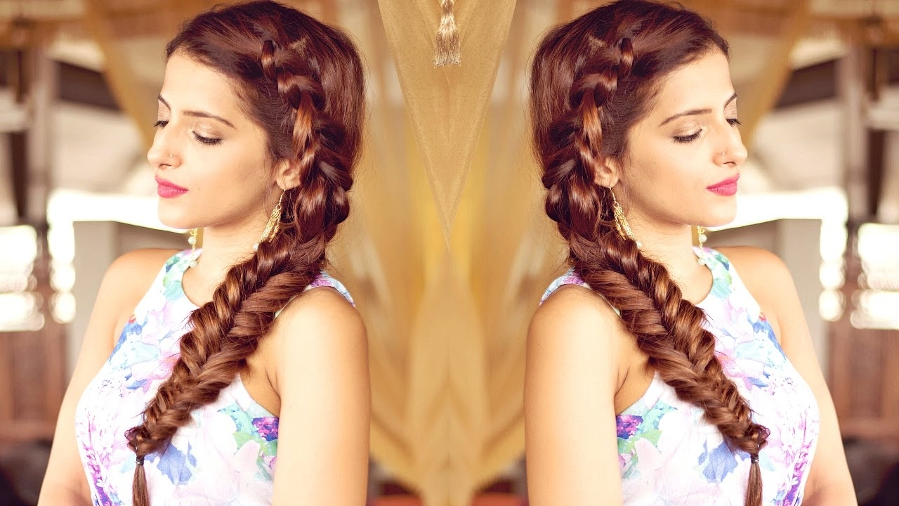 Indian Intended For Best And Newest Side Braid Hairstyles For Medium Hair (View 6 of 15)