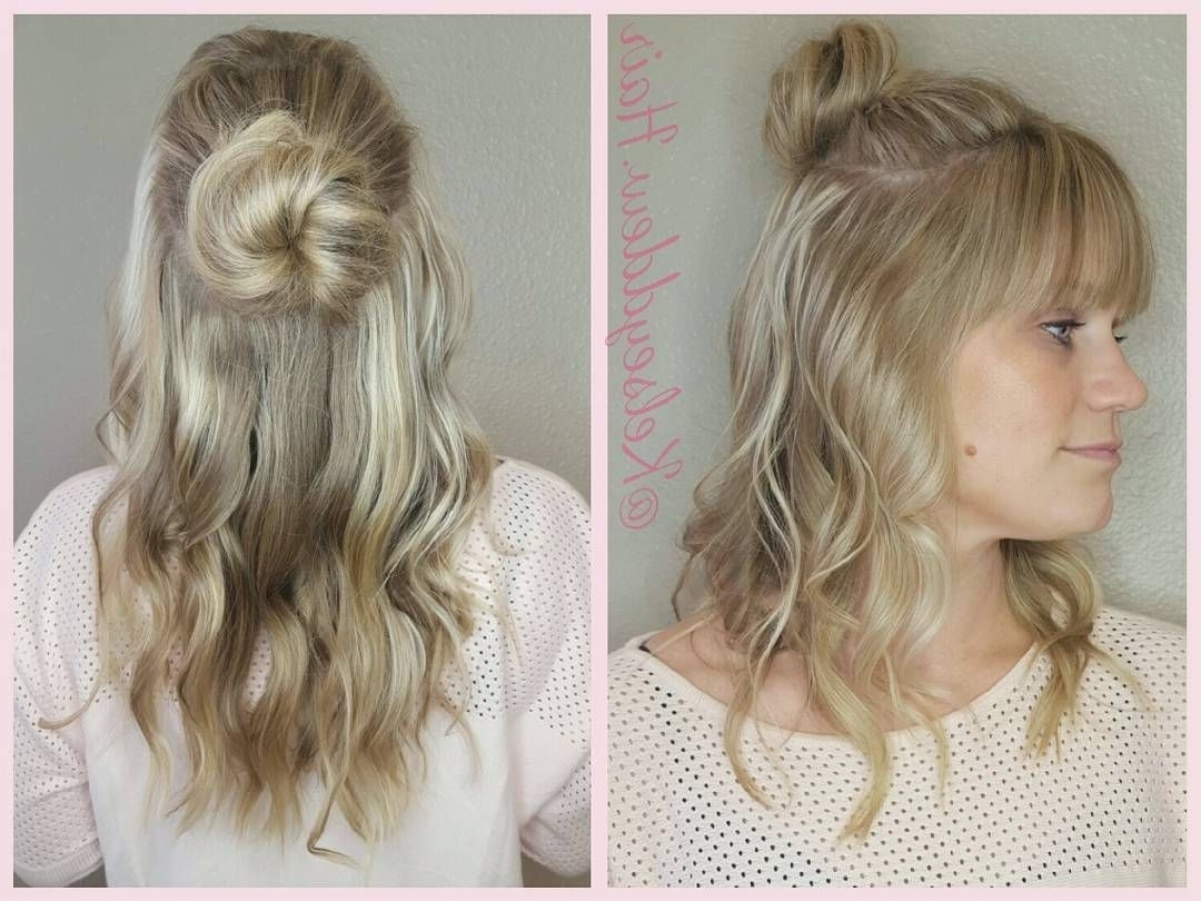 Instagram/facebook: @kelseyddew.hair #kelseyddew.hair Balayage Long Inside Most Popular Casual Bun With Highlights (Gallery 4 of 15)