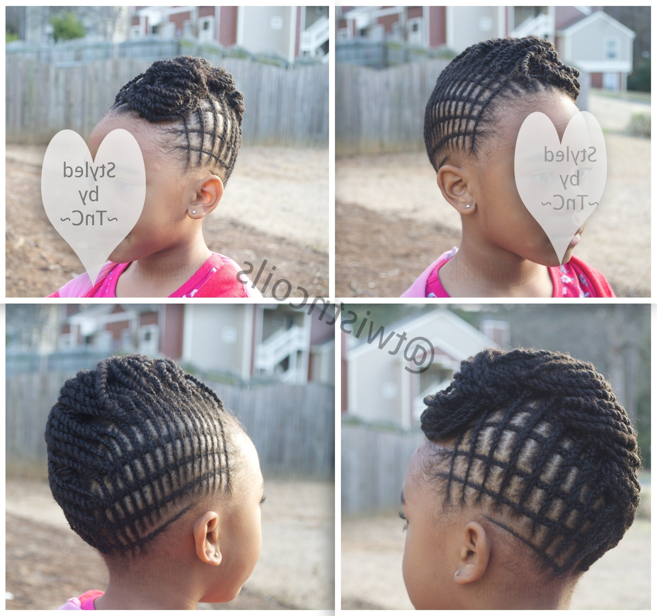 Interlaced (Criss Cross) Mohawk ~Twistncoils~ #naturalhairforkids With Regard To Fashionable Mohawk With Criss Crossed Braids (View 6 of 15)