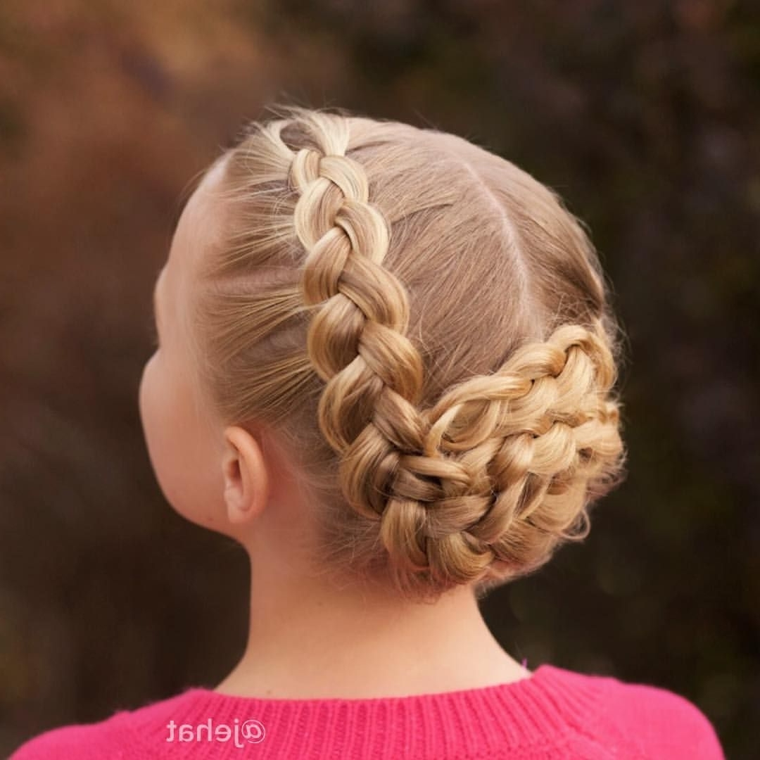 Jehat Hair — Another View Of Bright's Braided Updo! This Side With Regard To Trendy Twin Braid Updo Hairstyles (View 9 of 15)