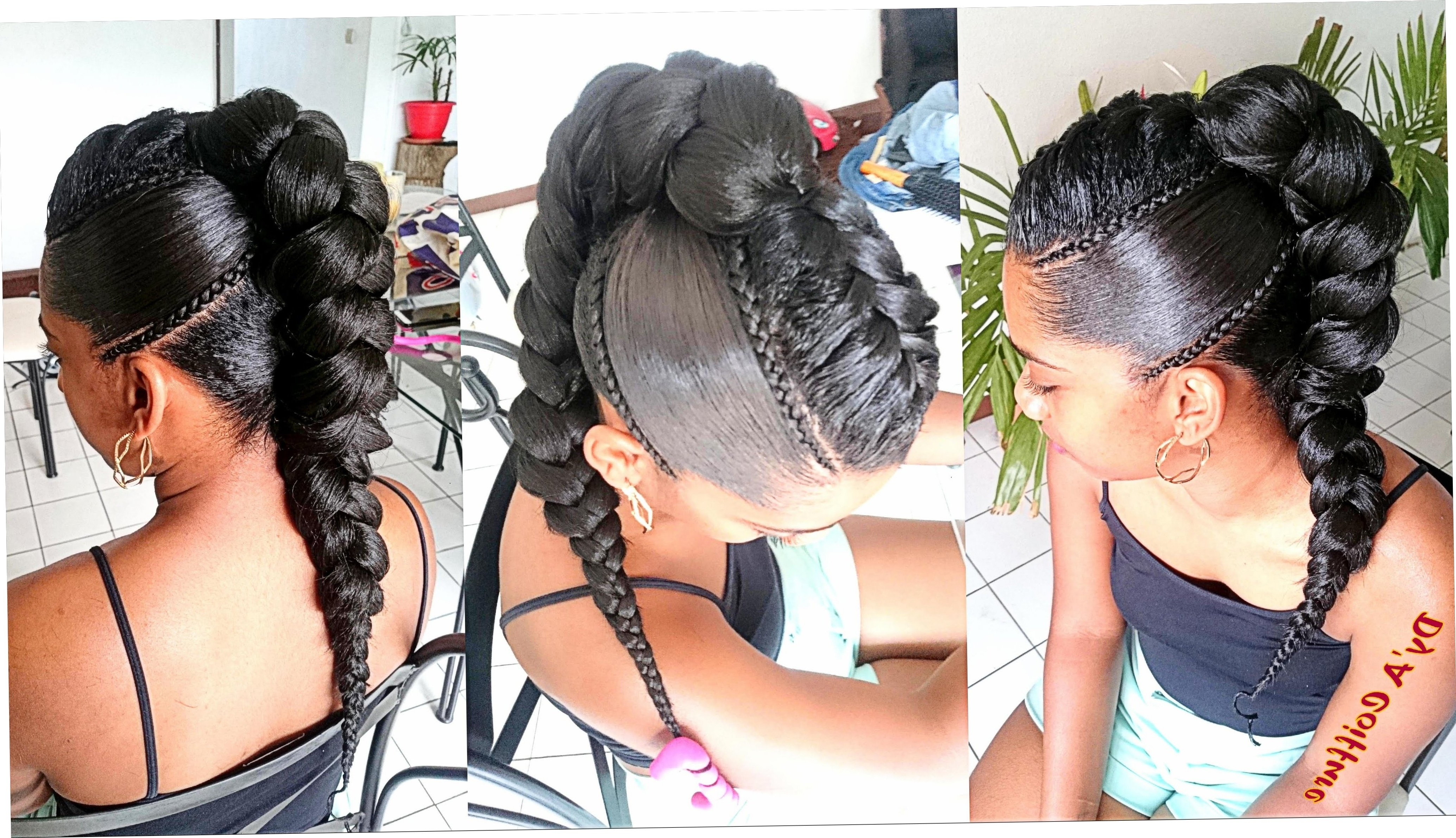 Jumbo French Braids – French Women – Straightuphairstyle With Popular Braided Hairstyle With Jumbo French Braid (View 7 of 15)