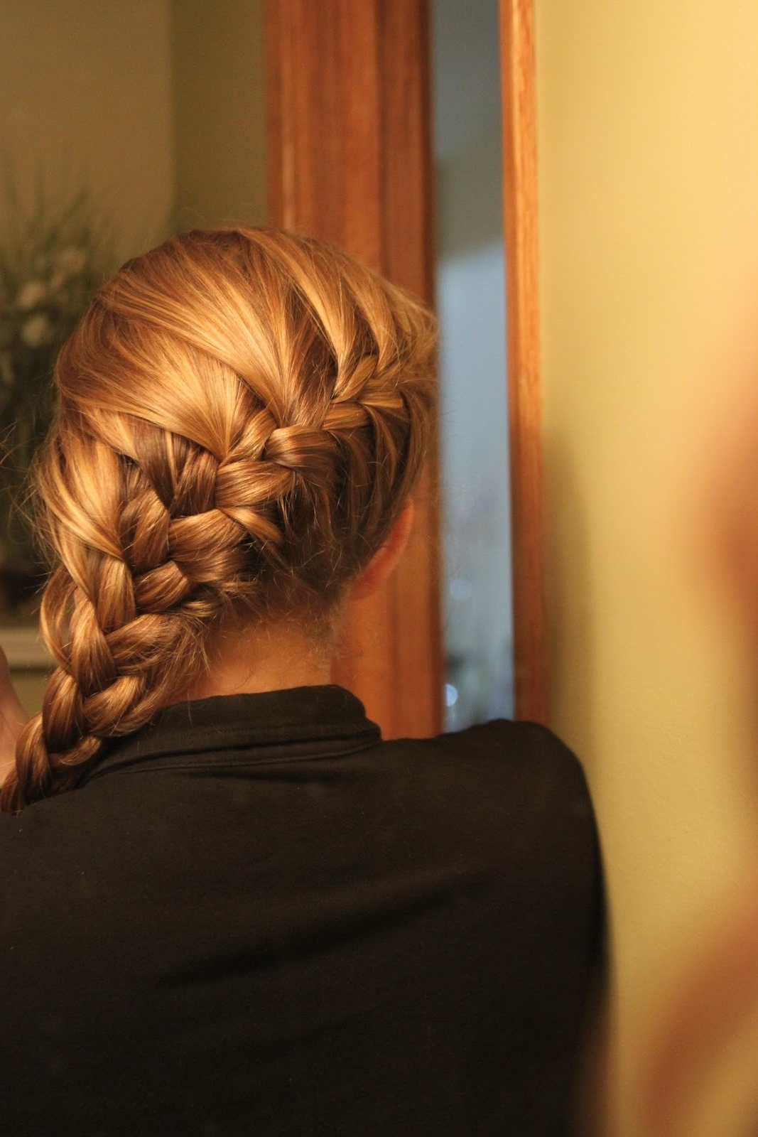 Kara's Creative Place: My New Hairstyle Standby, Diagonal French Braid Throughout Most Up To Date Diagonal French Braid Hairstyles (View 9 of 15)