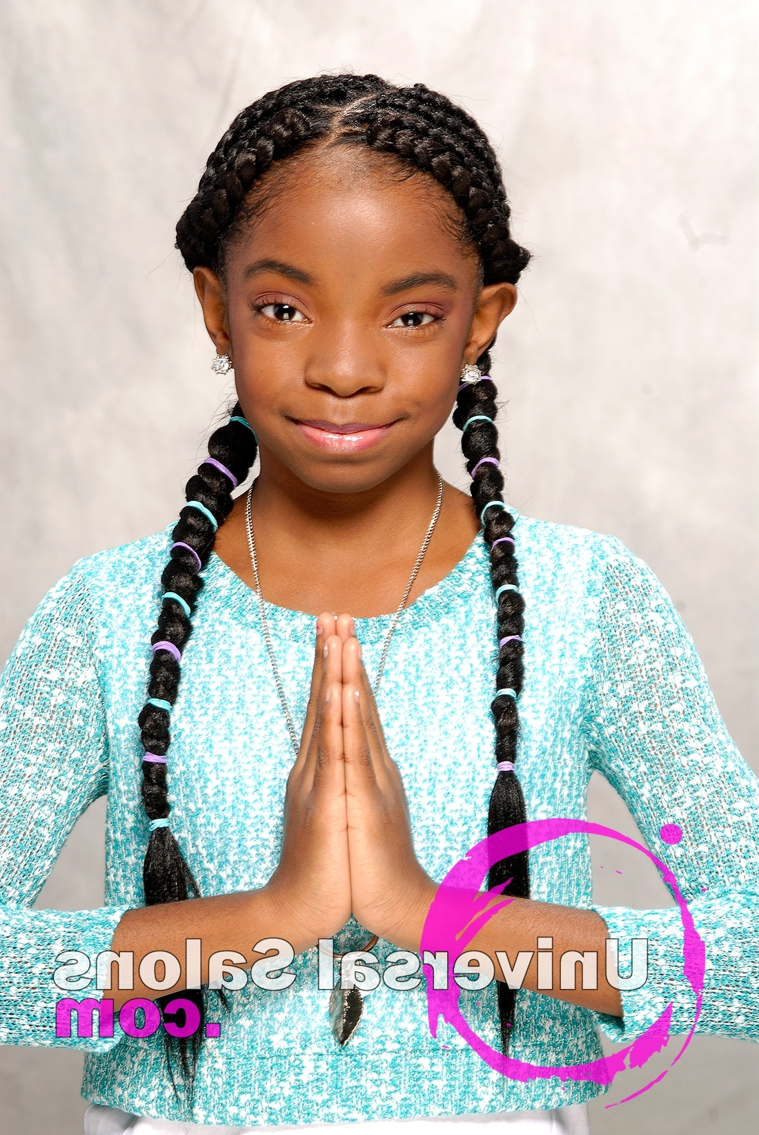 Kid's Cornrow Braids Hairstyle From Shae Thompson Inside Fashionable Cornrows Hairstyles Without Weave (View 6 of 15)