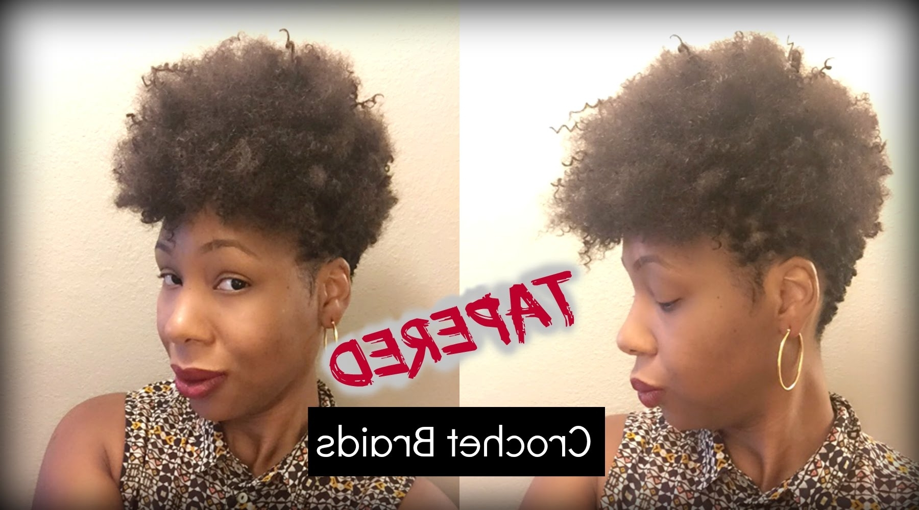 Latest Braided Hairstyles With Tapered Sides Within A Look At My Tapered Crochet Braids – Youtube (View 10 of 15)