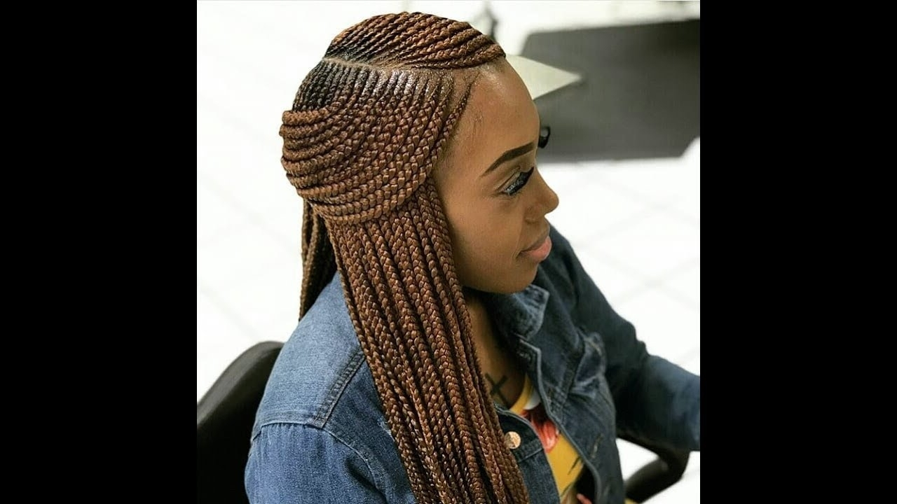 Latest Cornrow Hairstyles For Long Hair Within 2018 Trendy Ghana Braids,cornrow Hairstyles (View 7 of 15)