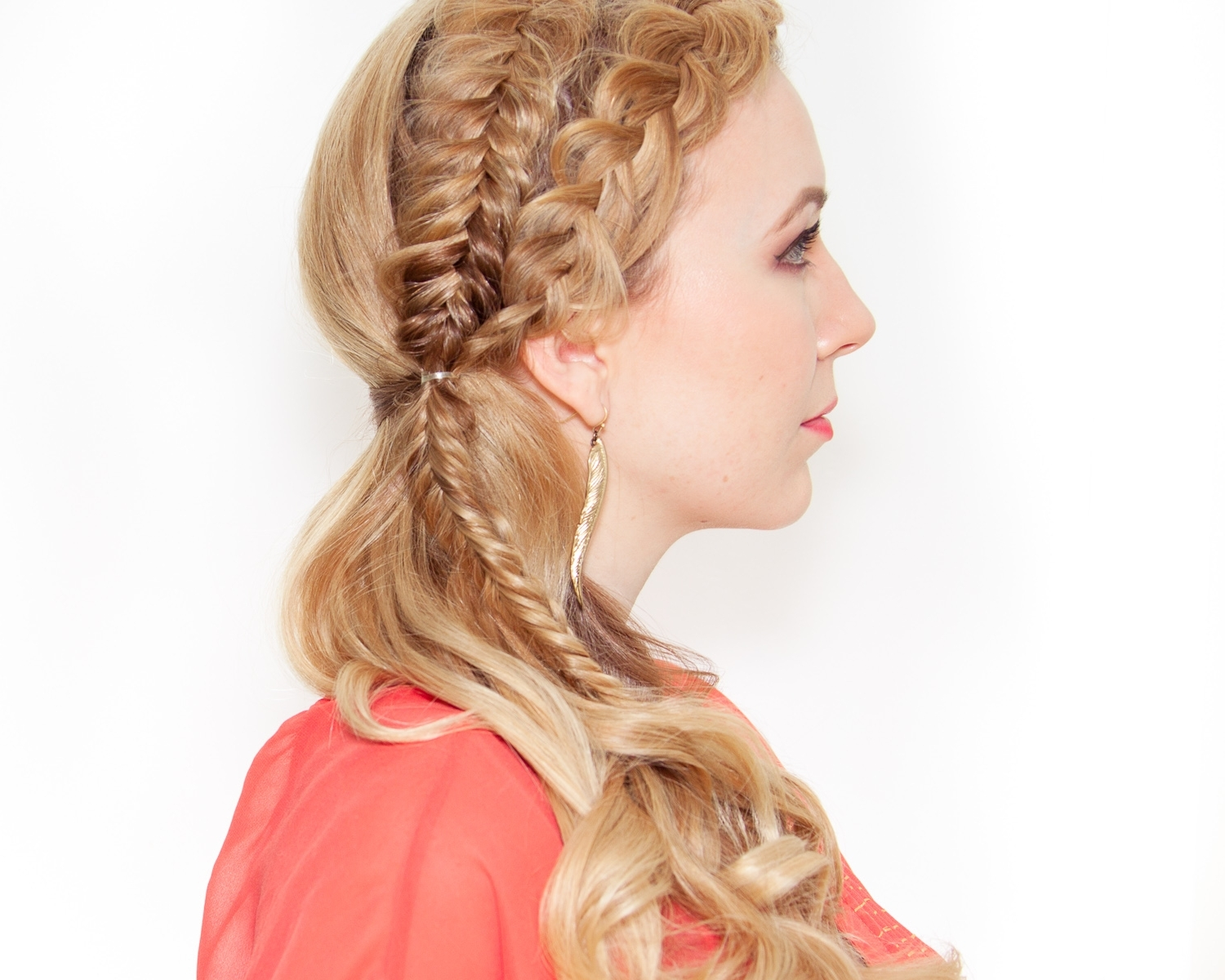 Latest Messy Double Braid Hairstyles Inside Side Swept Double Braid Hair Tutorial • Design Every Day (View 12 of 15)