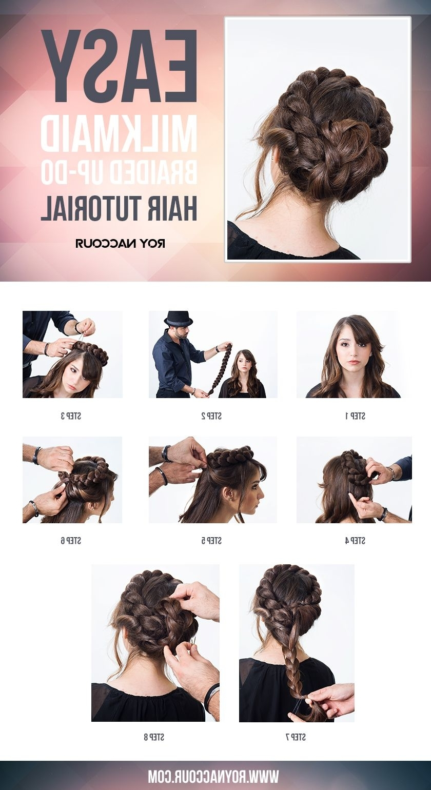 Latest Milkmaid Braids Hairstyles Pertaining To Roy Naccour's Milkmaid Braid Tutorial Shows You How Easy It Is To (View 15 of 15)